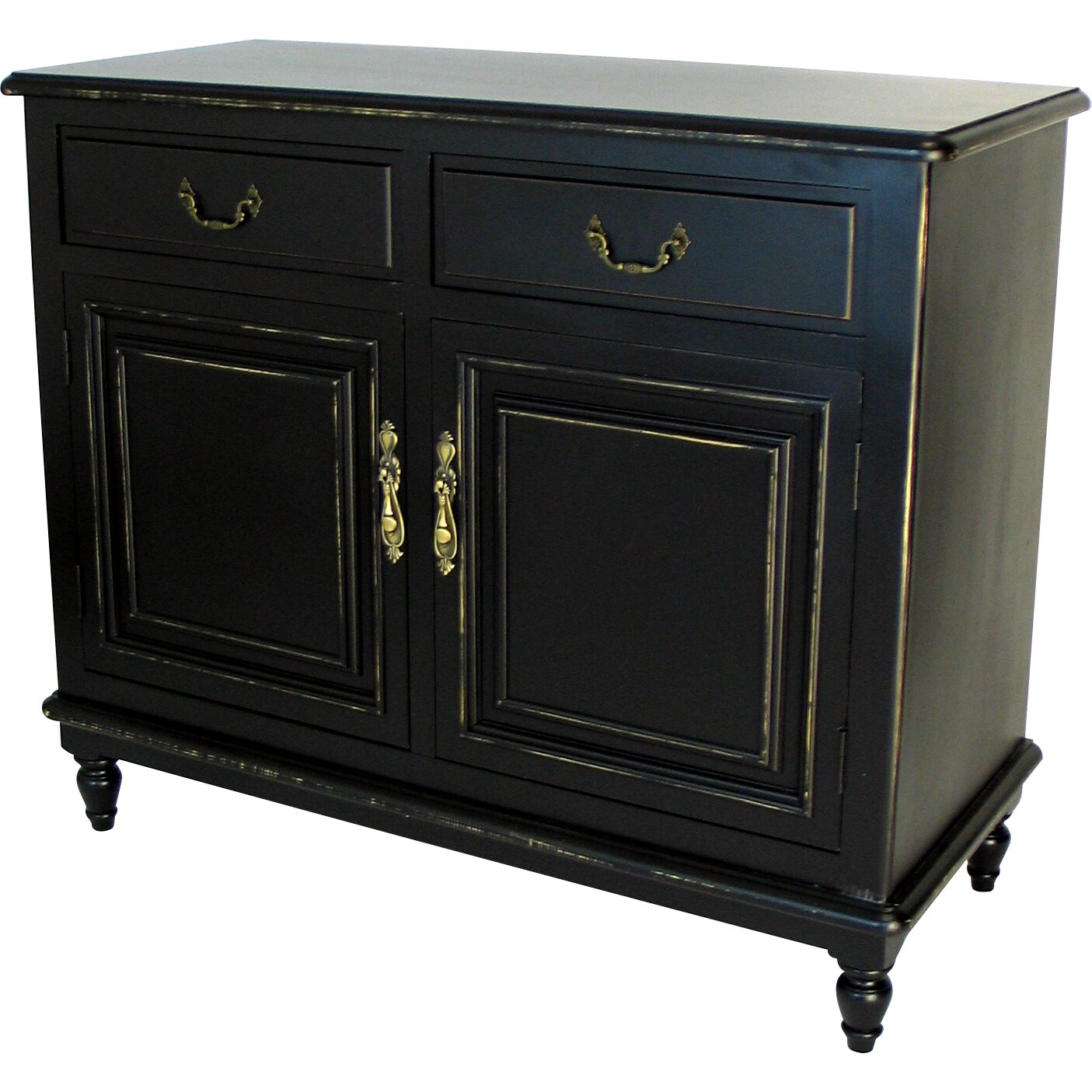 Wayborn Buffet Cabinet in Distressed Antique Black ...