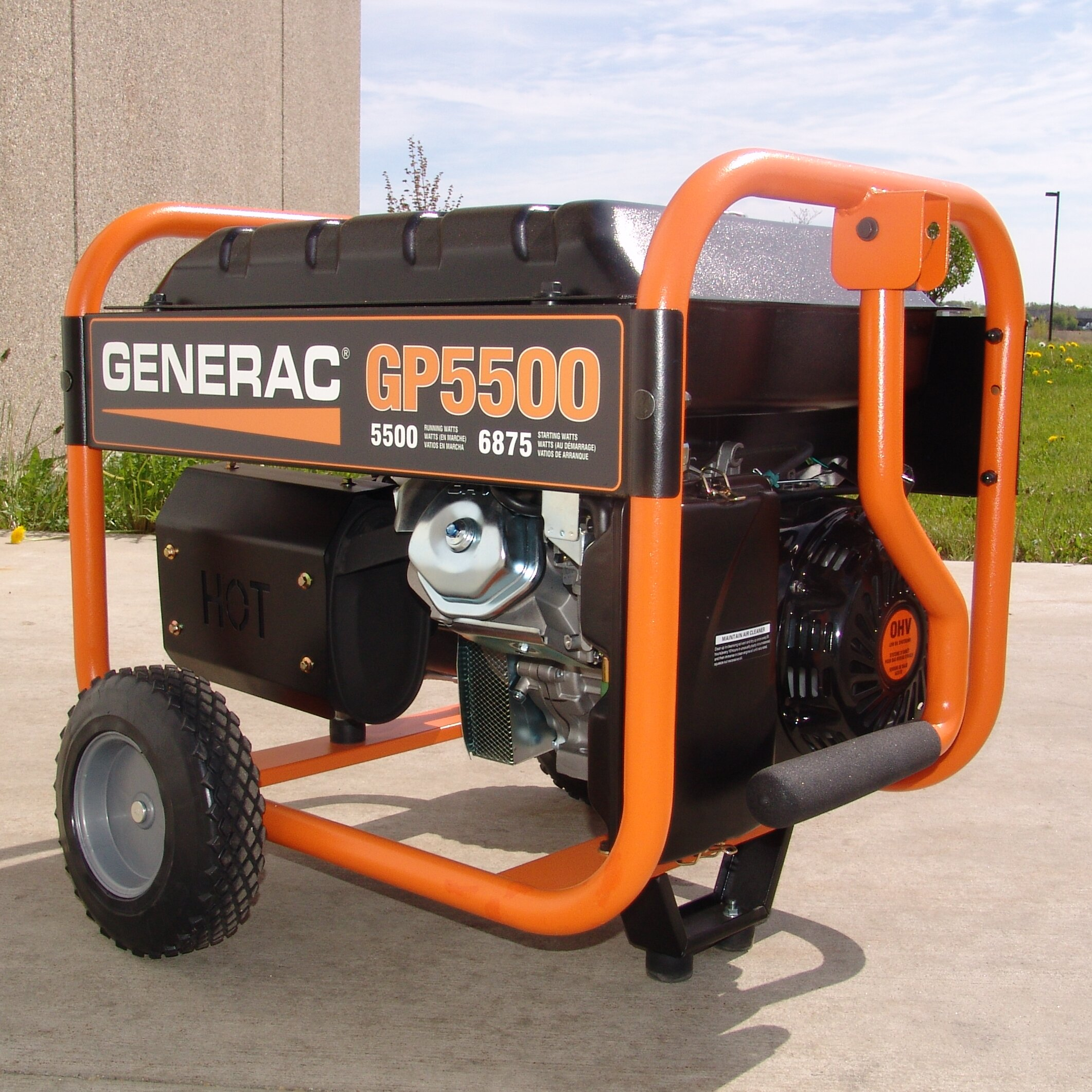 Generac 5500 Watt Portable Gasoline Generator u0026 Reviews : Wayfair