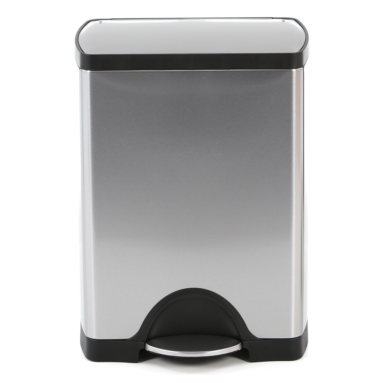 Simplehuman 8 gallon step on stainless steel trash can reviews - Rectangular garbage cans ...