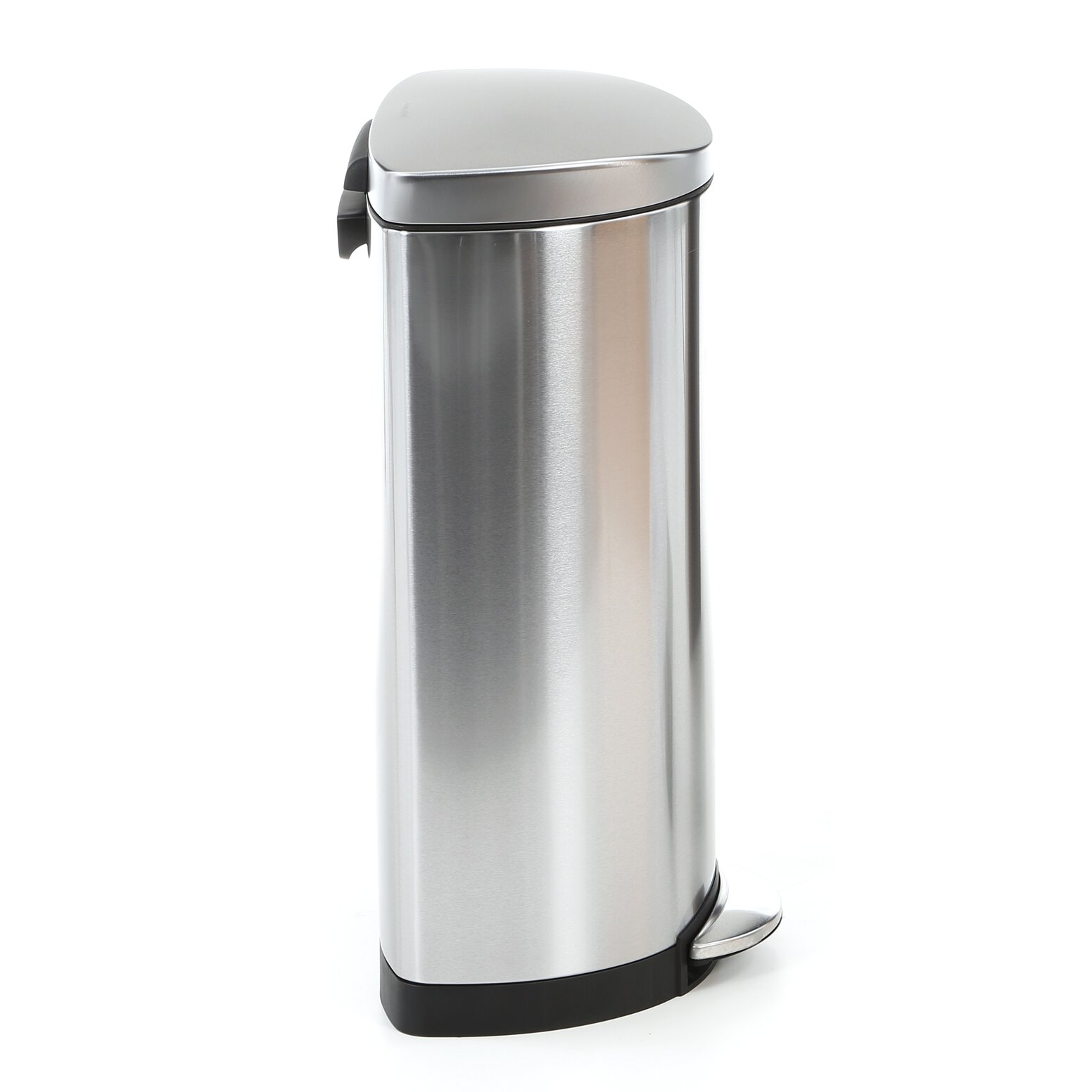 simplehuman 7 9 gallon step on stainless steel trash can reviews. Black Bedroom Furniture Sets. Home Design Ideas