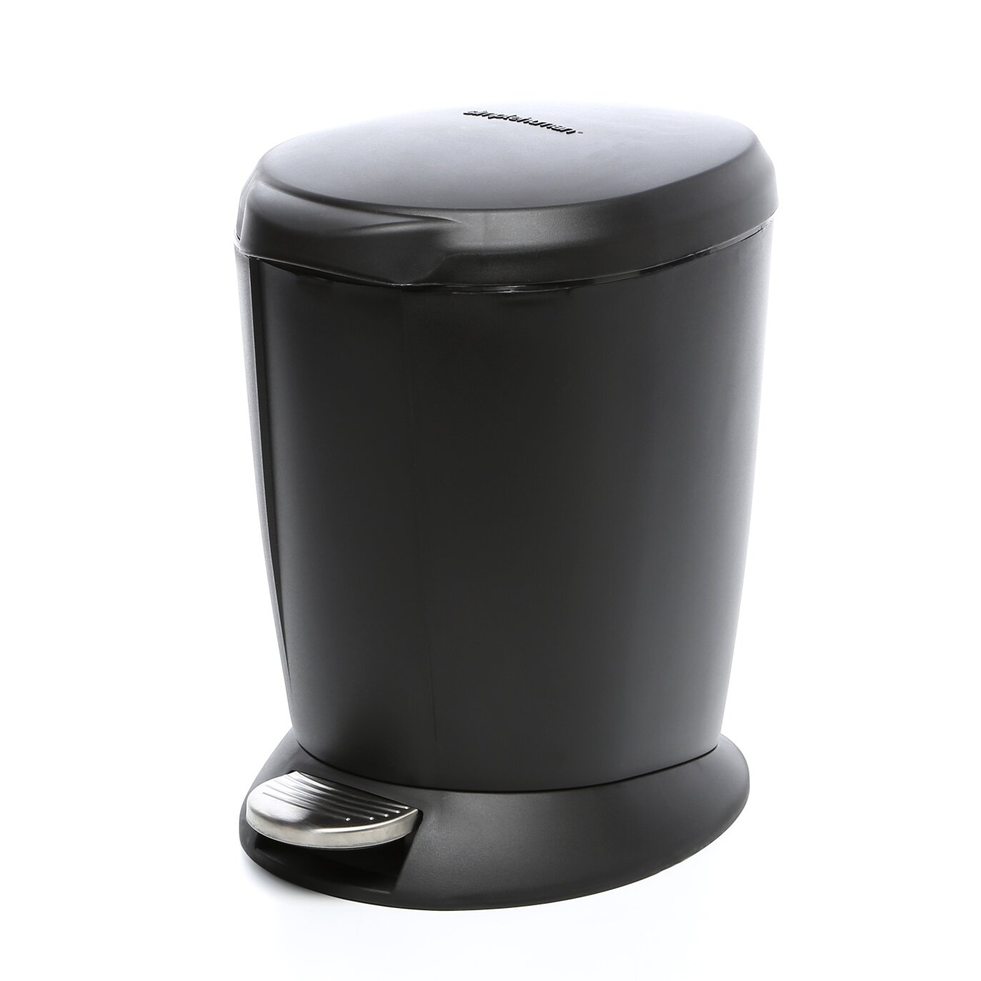 Simplehuman 1 6 Gallon Step On Plastic Trash Can Amp Reviews