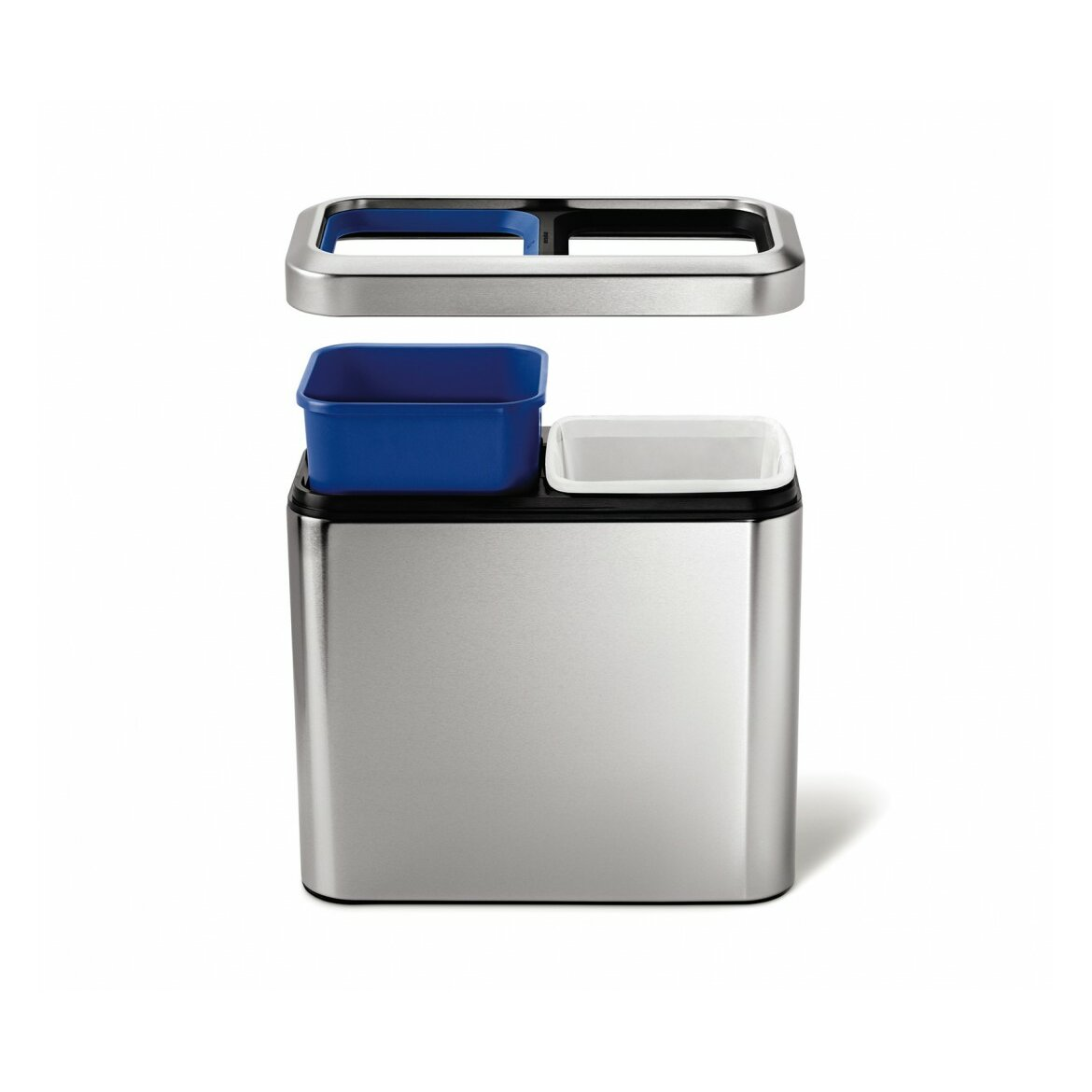 Simplehuman 20 l 5 3 gal slim open recycler trash can stainless steel reviews wayfair - Slim garbage cans for kitchen ...