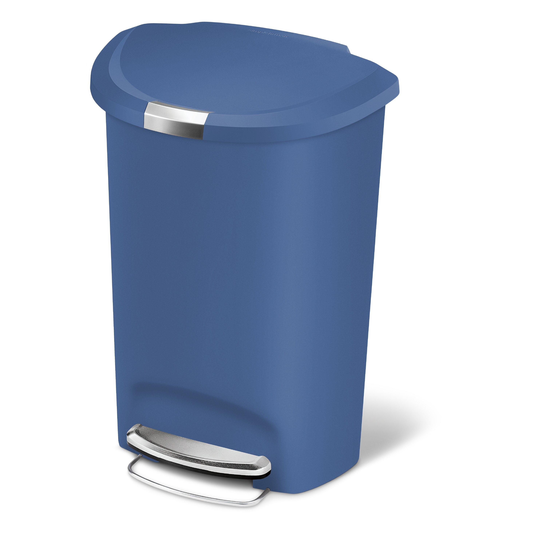Simplehuman 13 Gallon Swing Top Plastic Trash Can