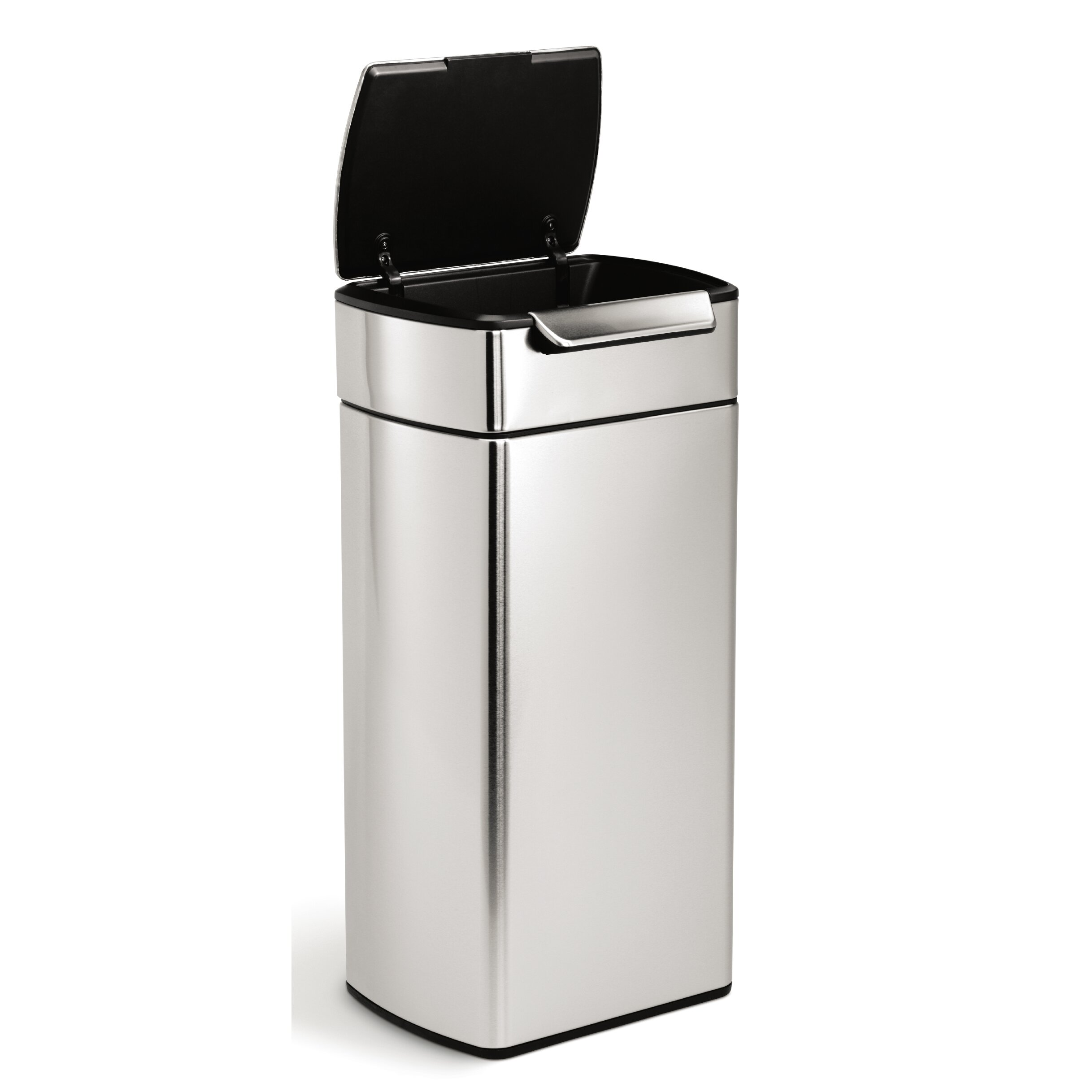 simplehuman 7 9 gallon touch top stainless steel trash can reviews. Black Bedroom Furniture Sets. Home Design Ideas