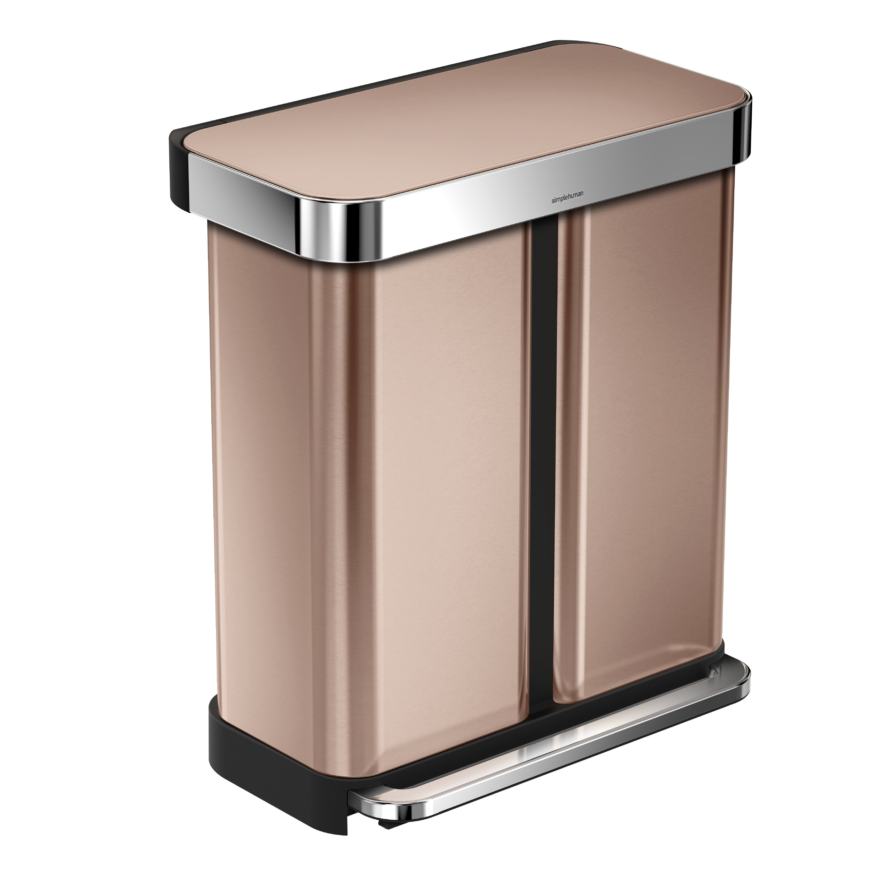 Simplehuman 15 gallon step on stainless steel trash can for Simplehuman trash can