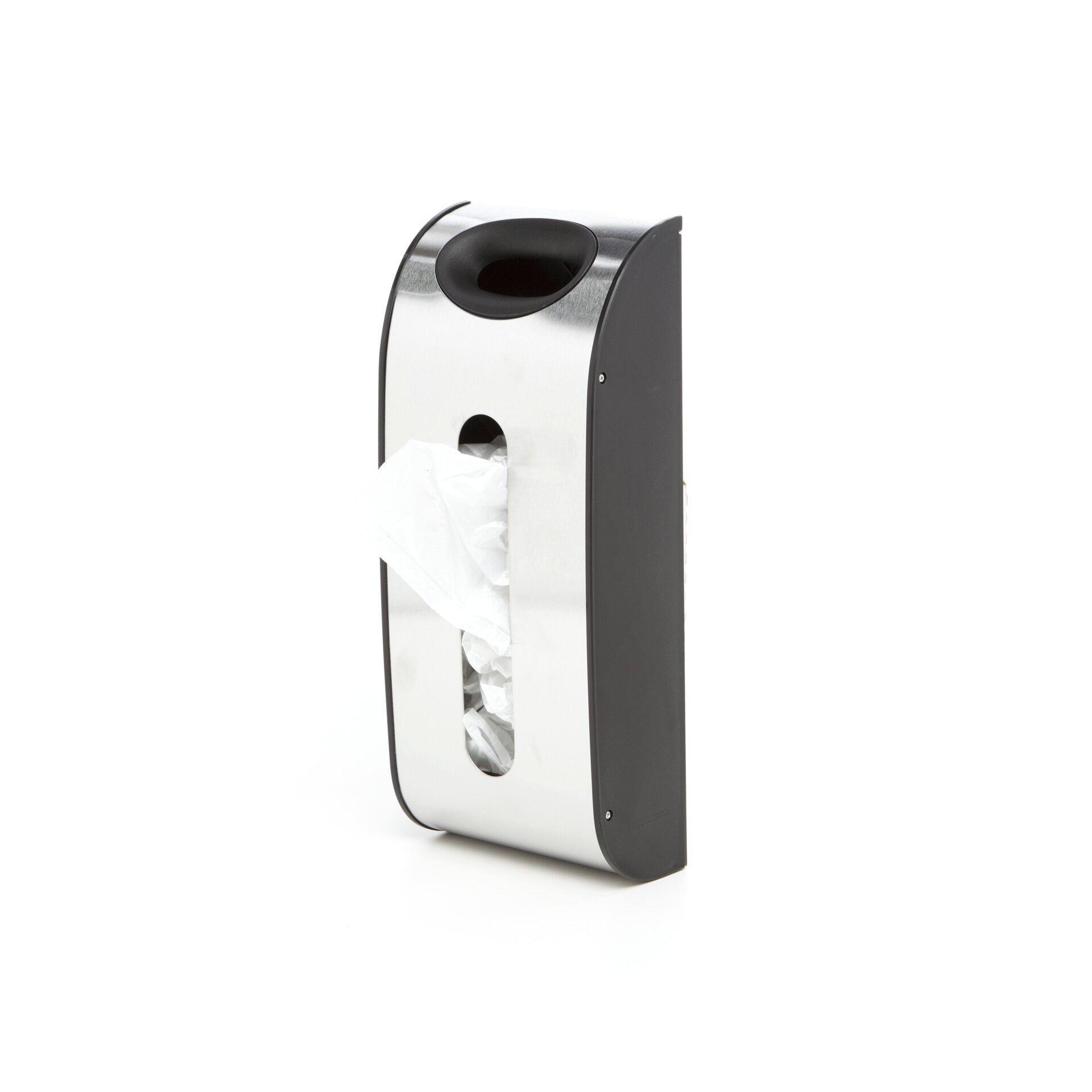 Wall Mounted Dispenser ~ Simplehuman wall mounted grocery bag dispenser in