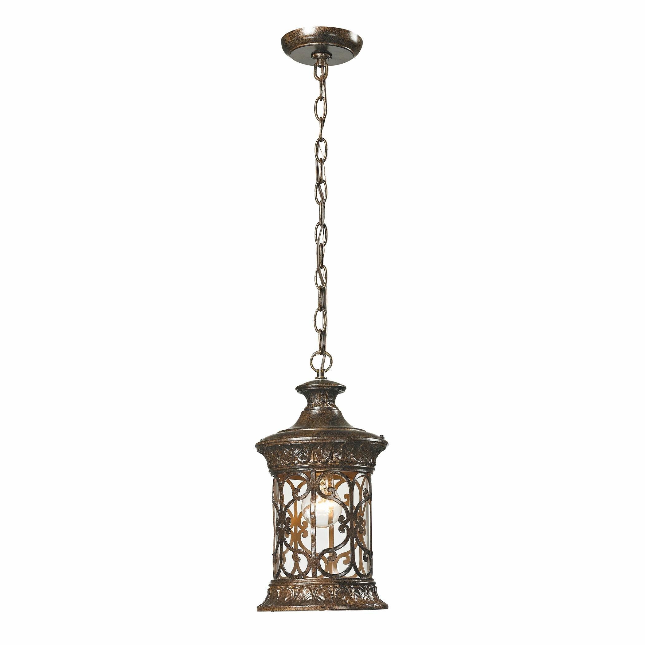 elk lighting orlean 1 light outdoor pendant reviews