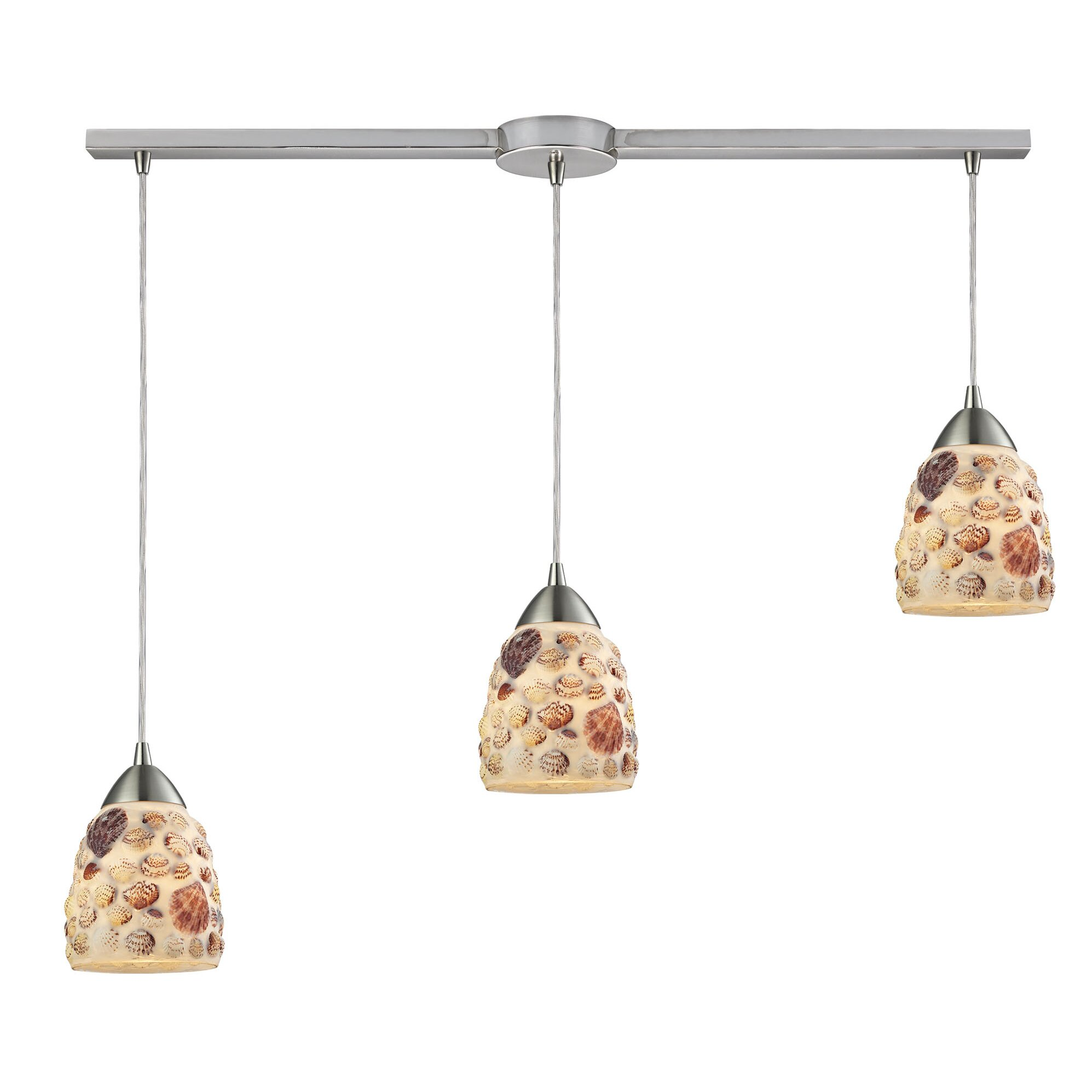 Elk Lighting Shells 3 Light Kitchen Island Pendant Wayfair