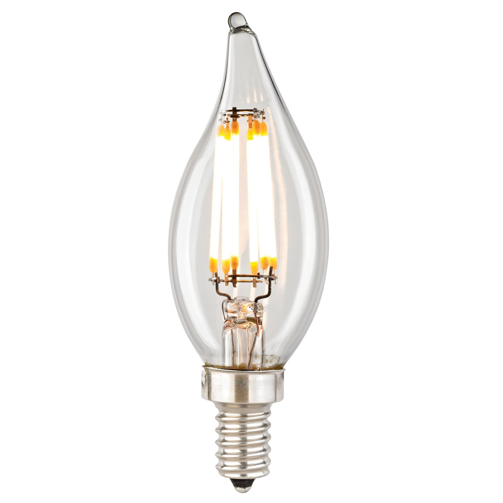 Candelabra Led Bulb: Elk Lighting Filament 6 Wattage Candelabra LED Light Bulb