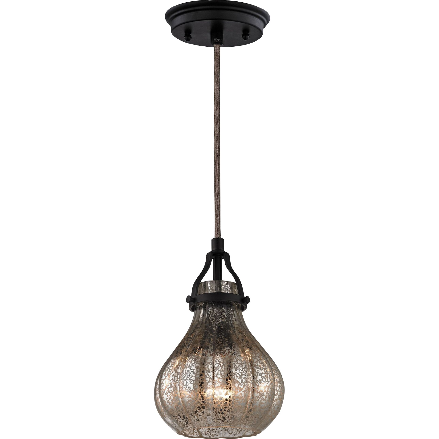 Elk Lighting Modern Farmhouse: Elk Lighting Danica 1 Light Mini Pendant & Reviews