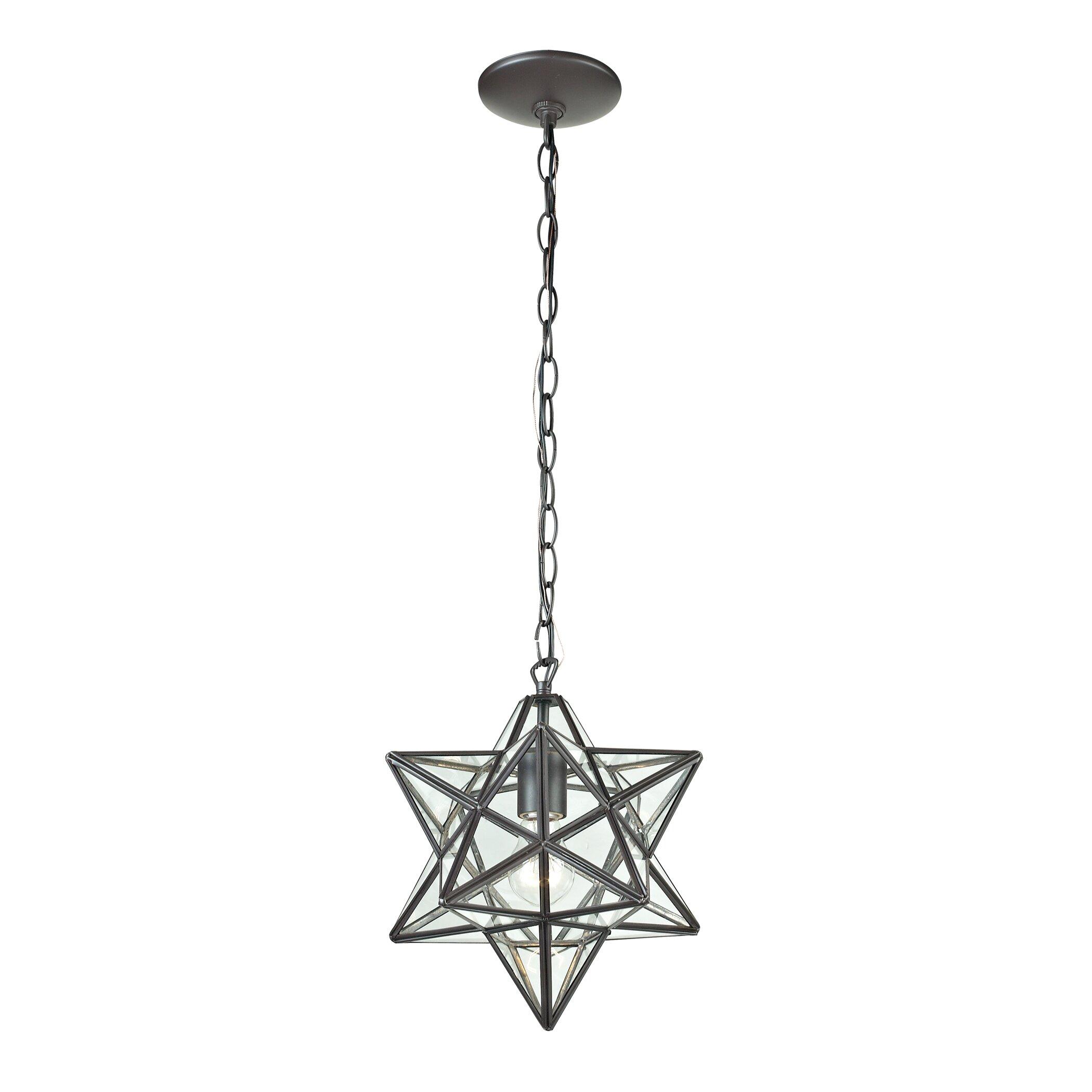 Elk Lighting 1 Light Star Pendant Reviews Wayfair
