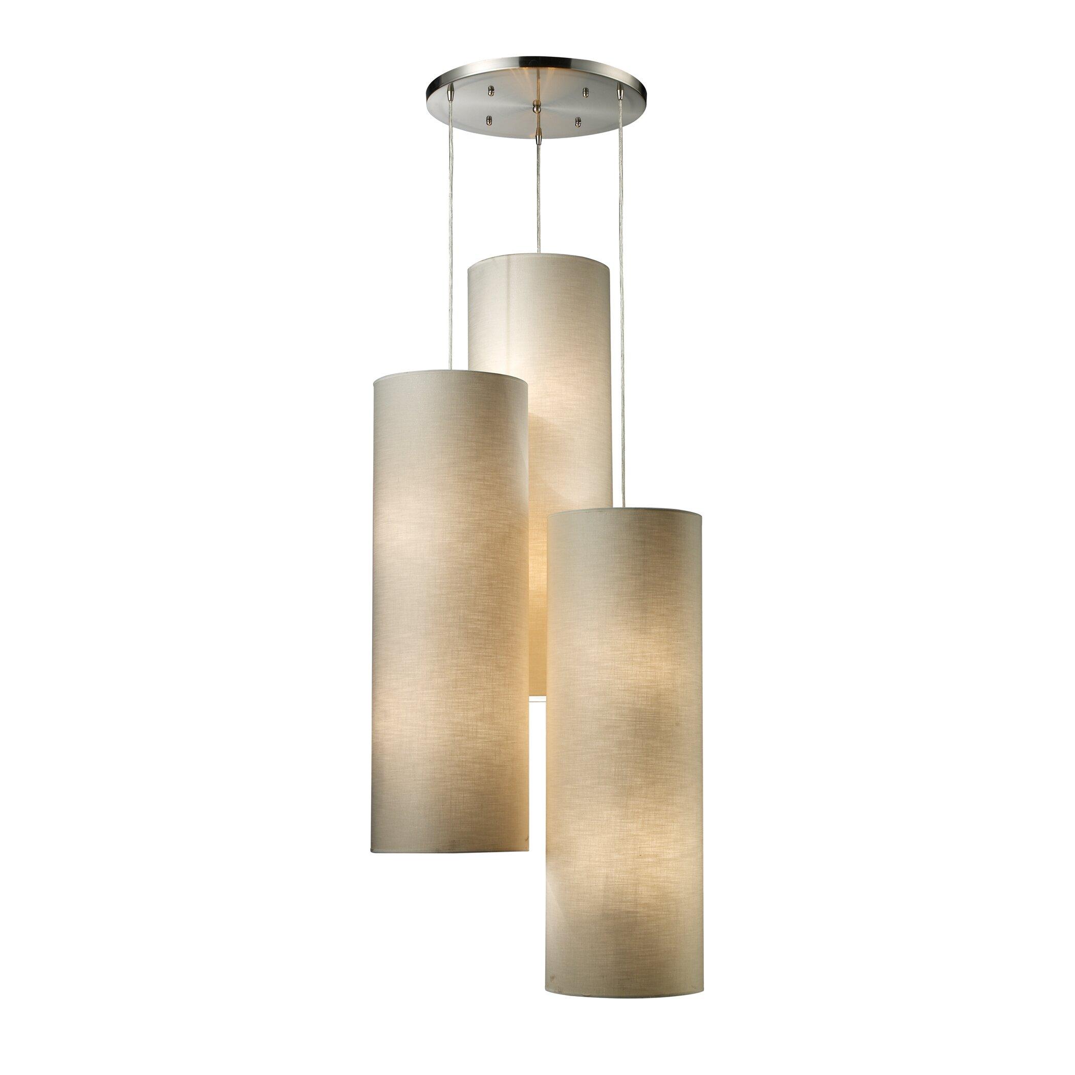 elk lighting fabric cylinders 12 light cascade pendant
