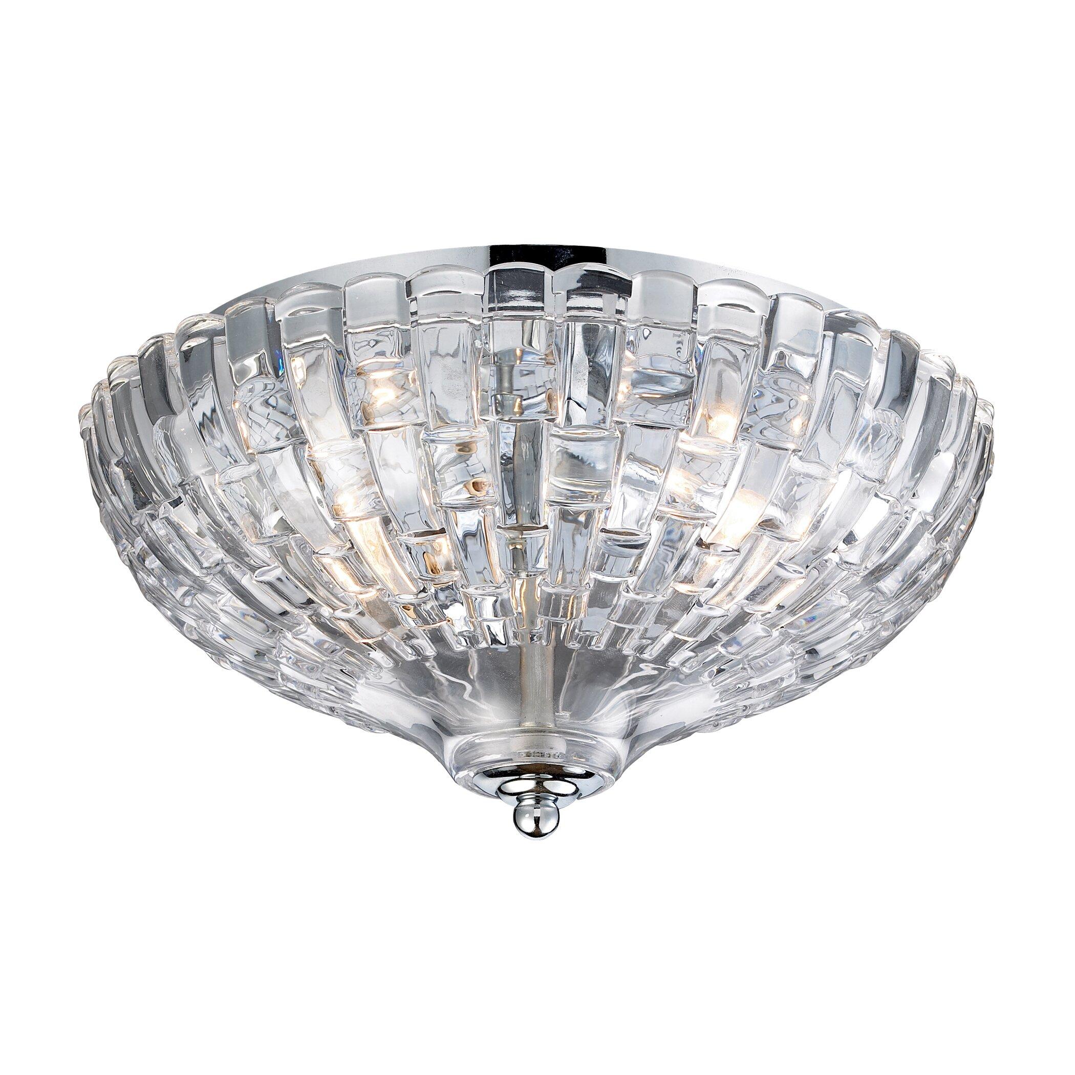 Titan Lighting Tiffany Buckingham 4 Light Ceiling Mount: Elk Lighting 2 Light Flush Mount & Reviews