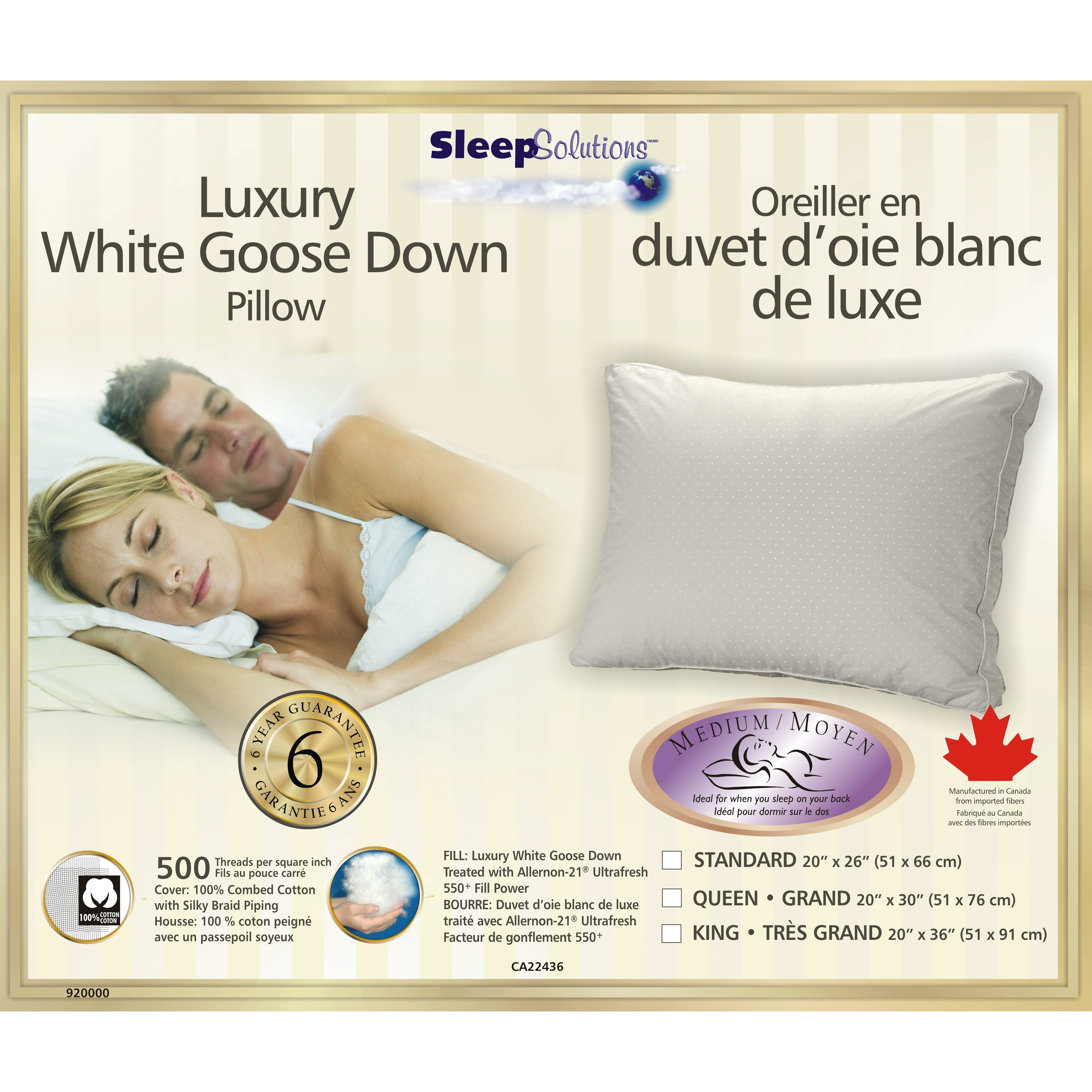 Westex soft luxury goose down pillow reviews wayfair for Best rated down pillows