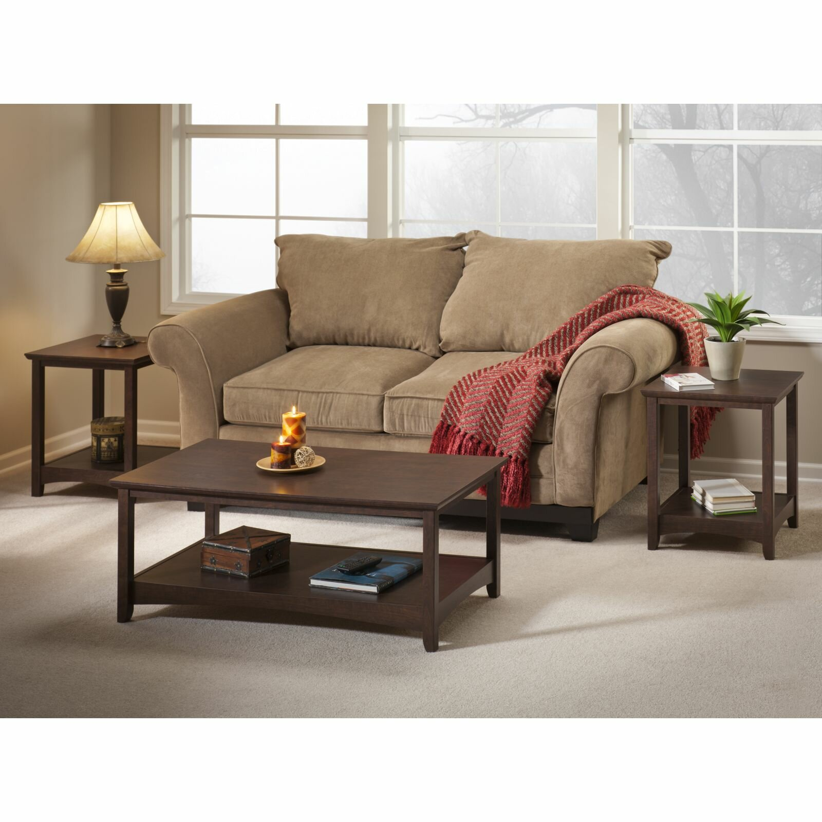 Darby Home Co Egger 3 Piece Coffee Table Set Reviews Wayfair