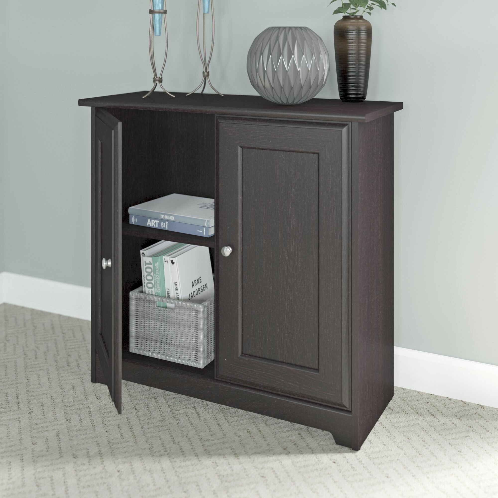 Bush furniture cabot 2 door storage cabinets reviews for One day doors and closets reviews