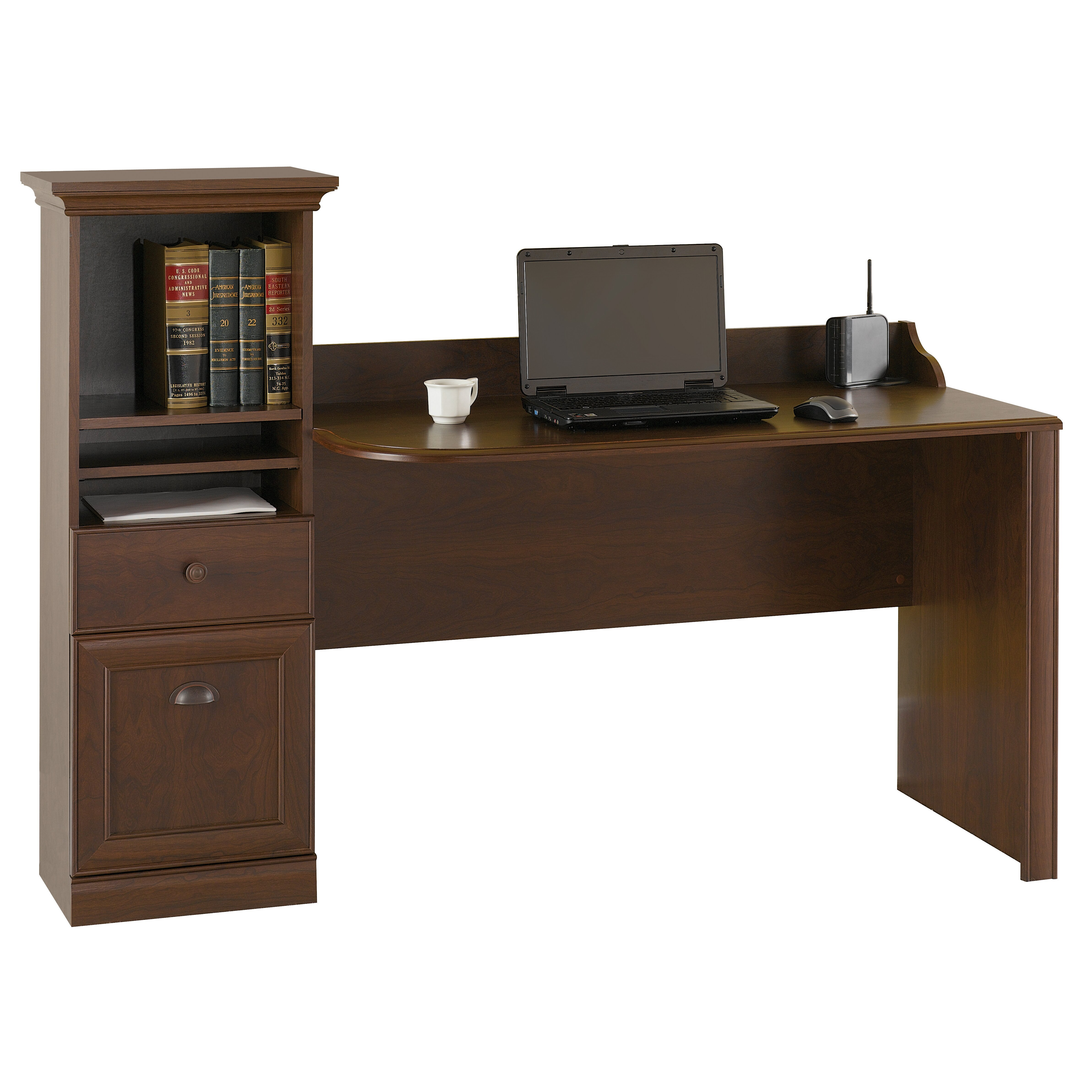 Bush furniture barton computer desk reviews wayfair for Computer desk furniture