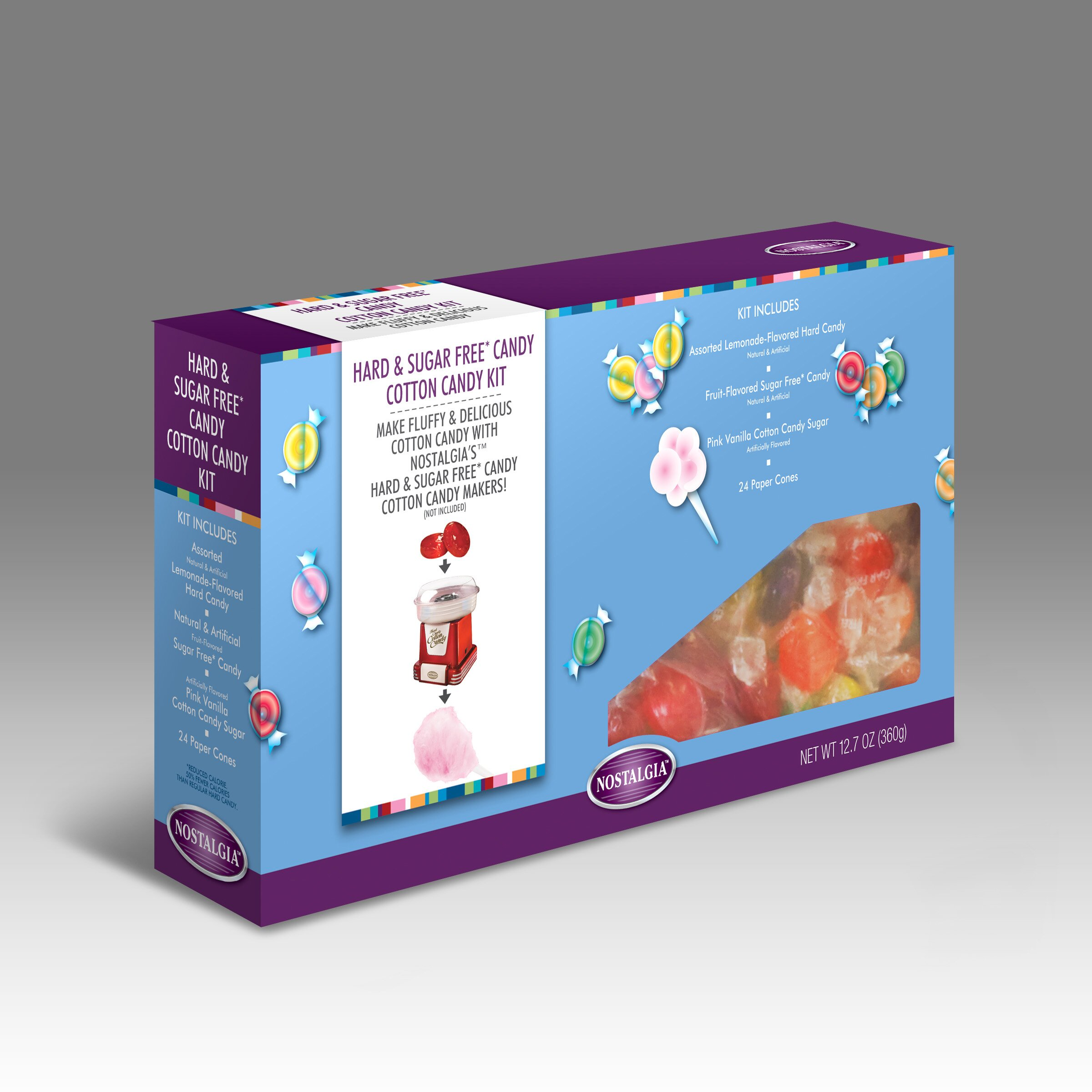 cotton candy nostalgia electrics instructions