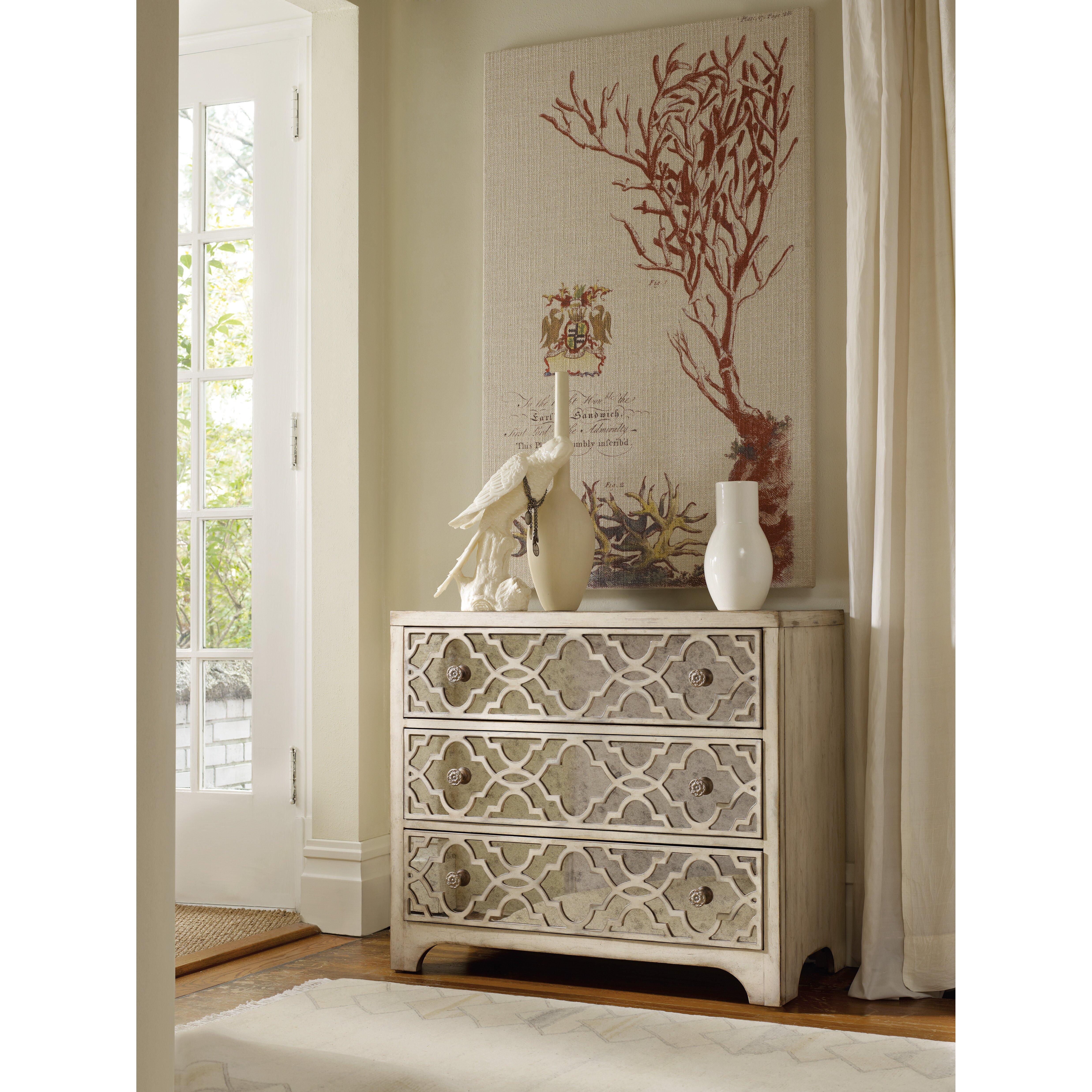 Hooker Furniture Sanctuary 3 Drawer Fretwork Chest