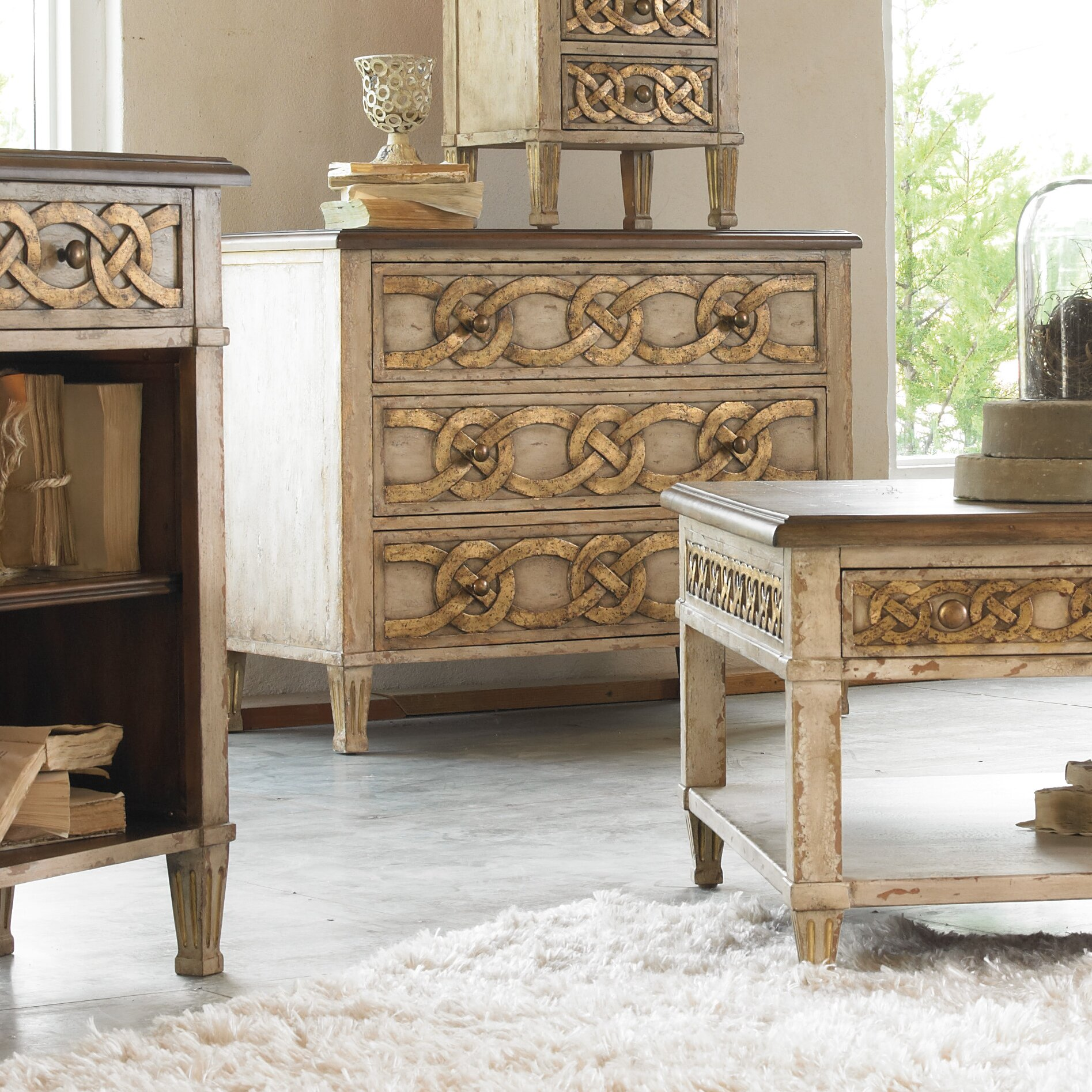 Hooker Furniture Melange 3 Drawer Chest Reviews Wayfair