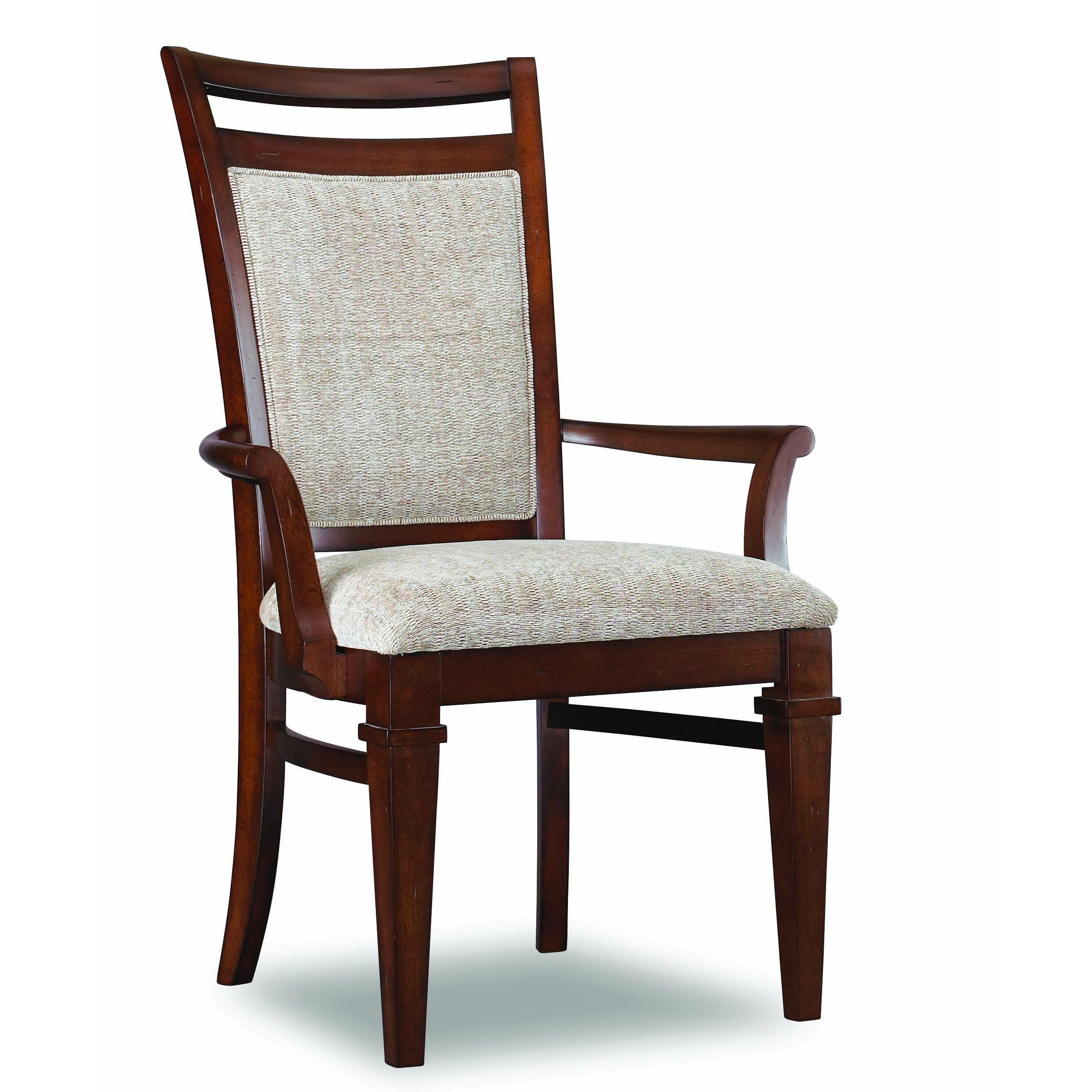 Hooker furniture abbott place upholstered back arm chair for Place furniture