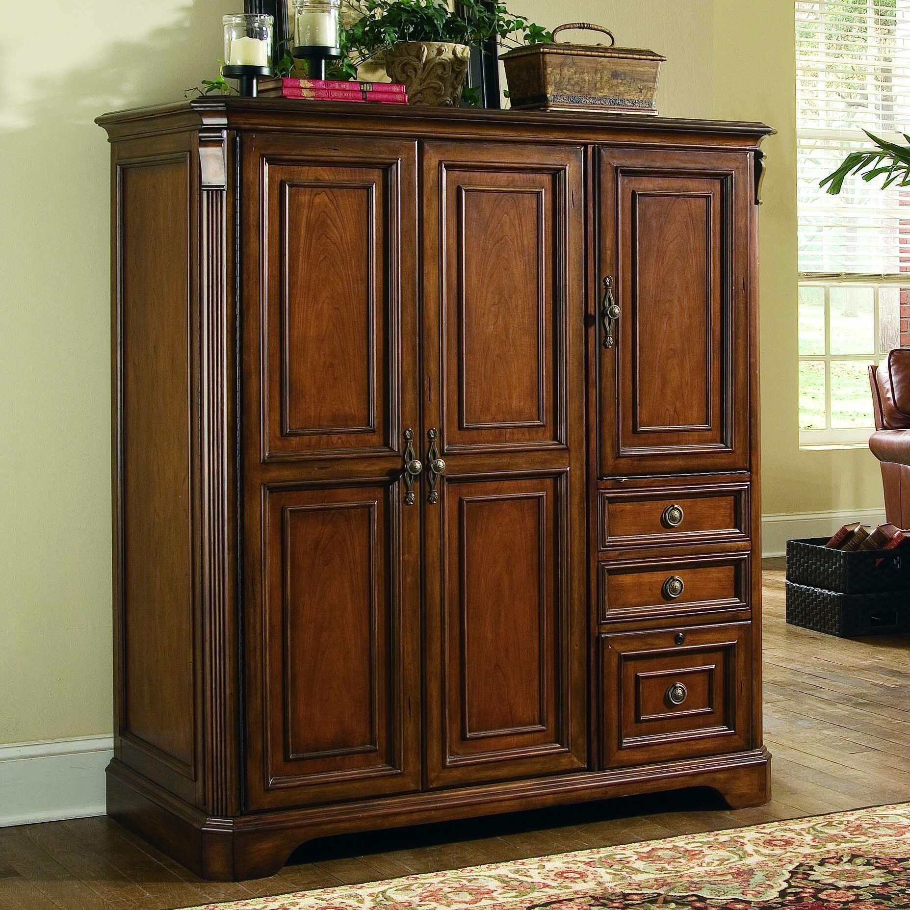 Desk Cabinet: Hooker Furniture Brookhaven Armoire Desk & Reviews