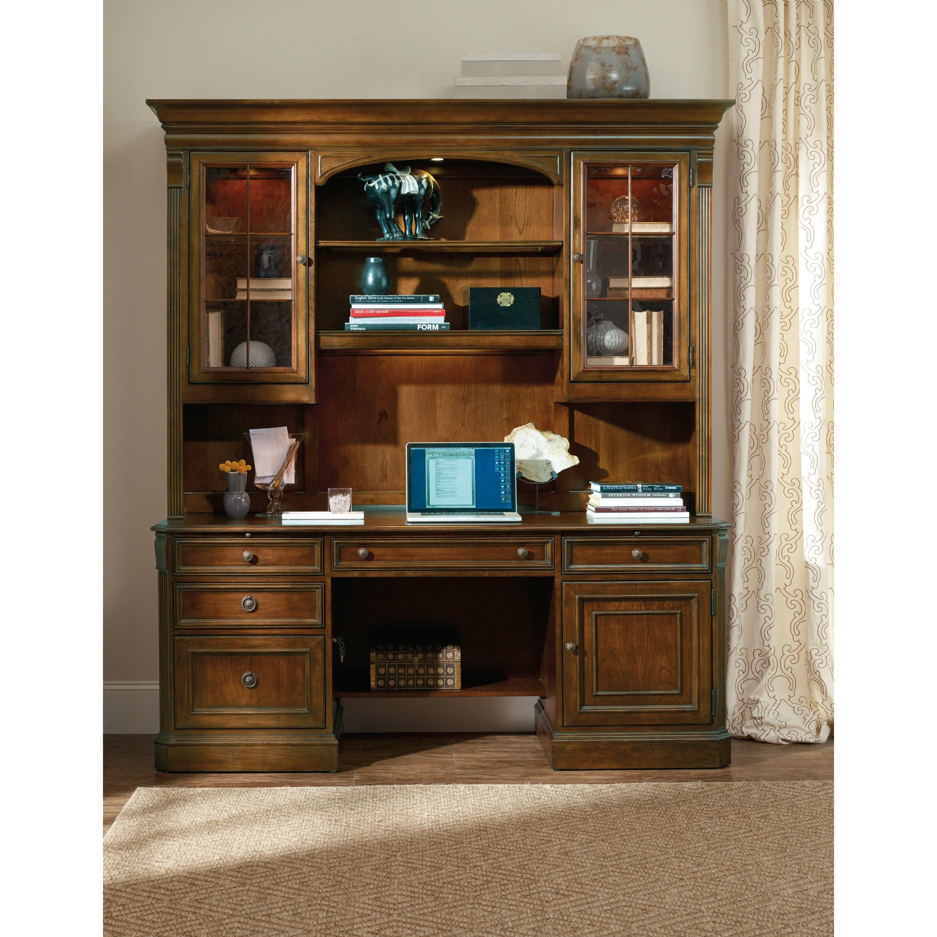 Hooker Furniture Brookhaven Armoire Desk Reviews: Hooker Furniture Brookhaven Credenza Desk