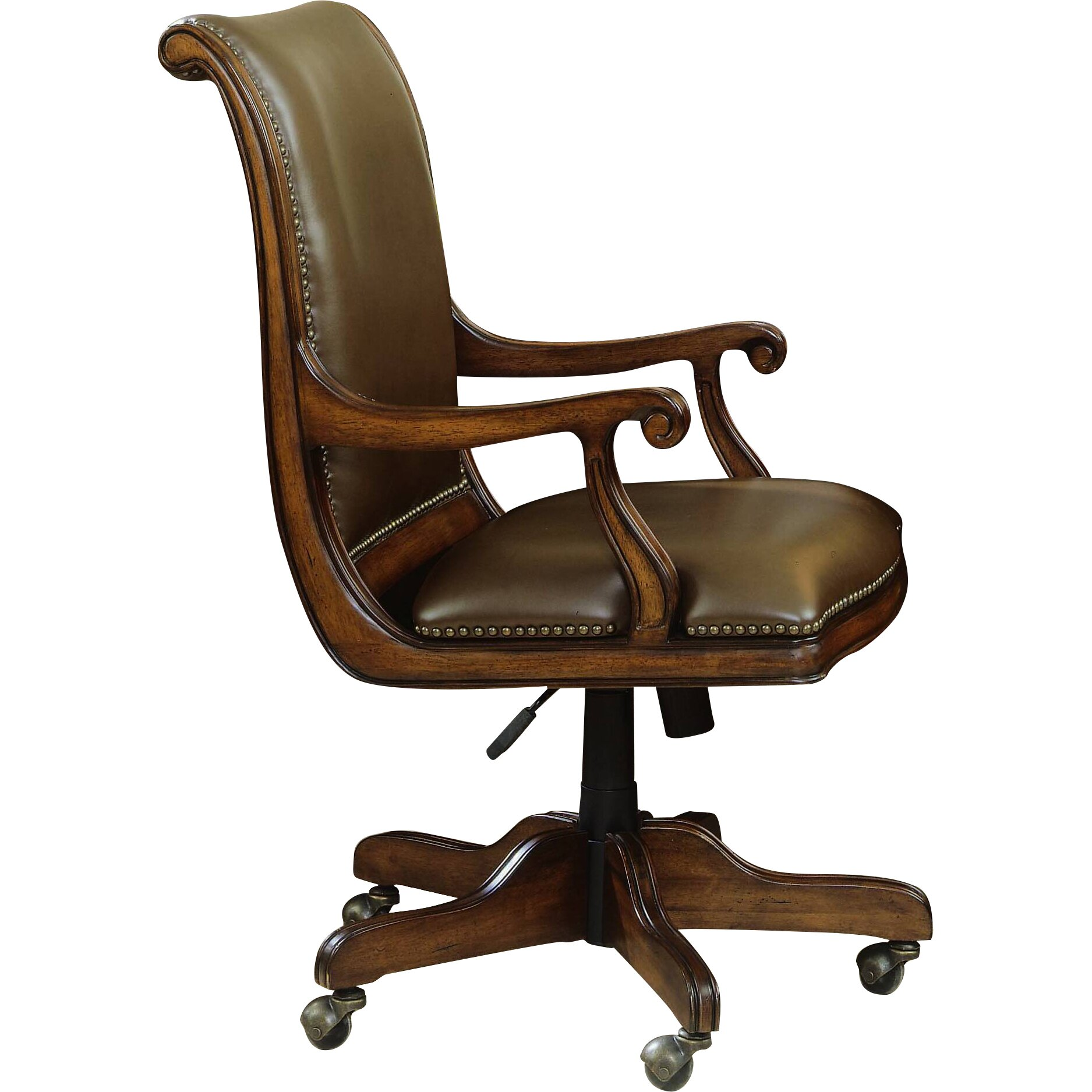 Hooker furniture brookhaven leather bankers chair for Furniture chairs