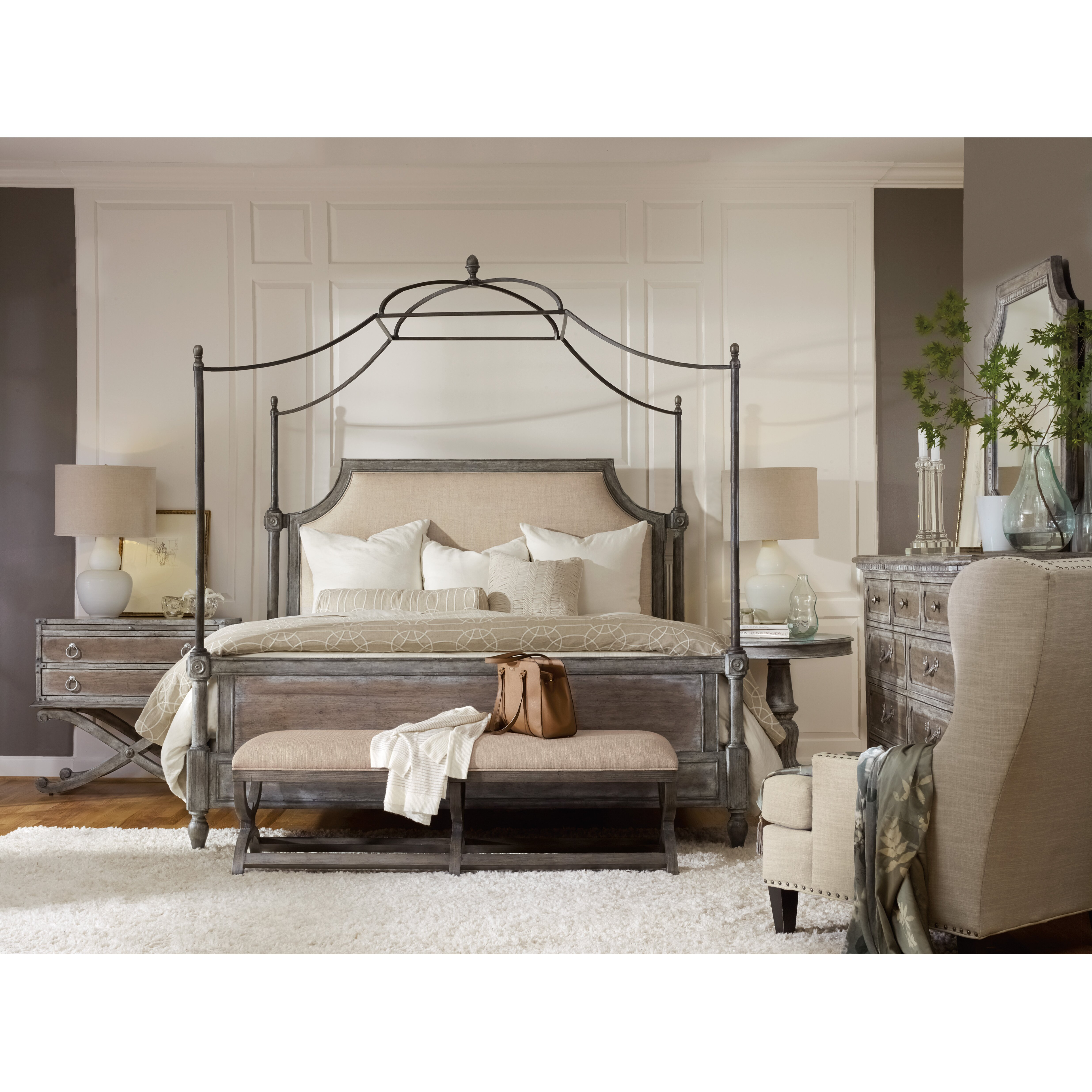 Hooker Furniture True Vintage Canopy Customizable Bedroom