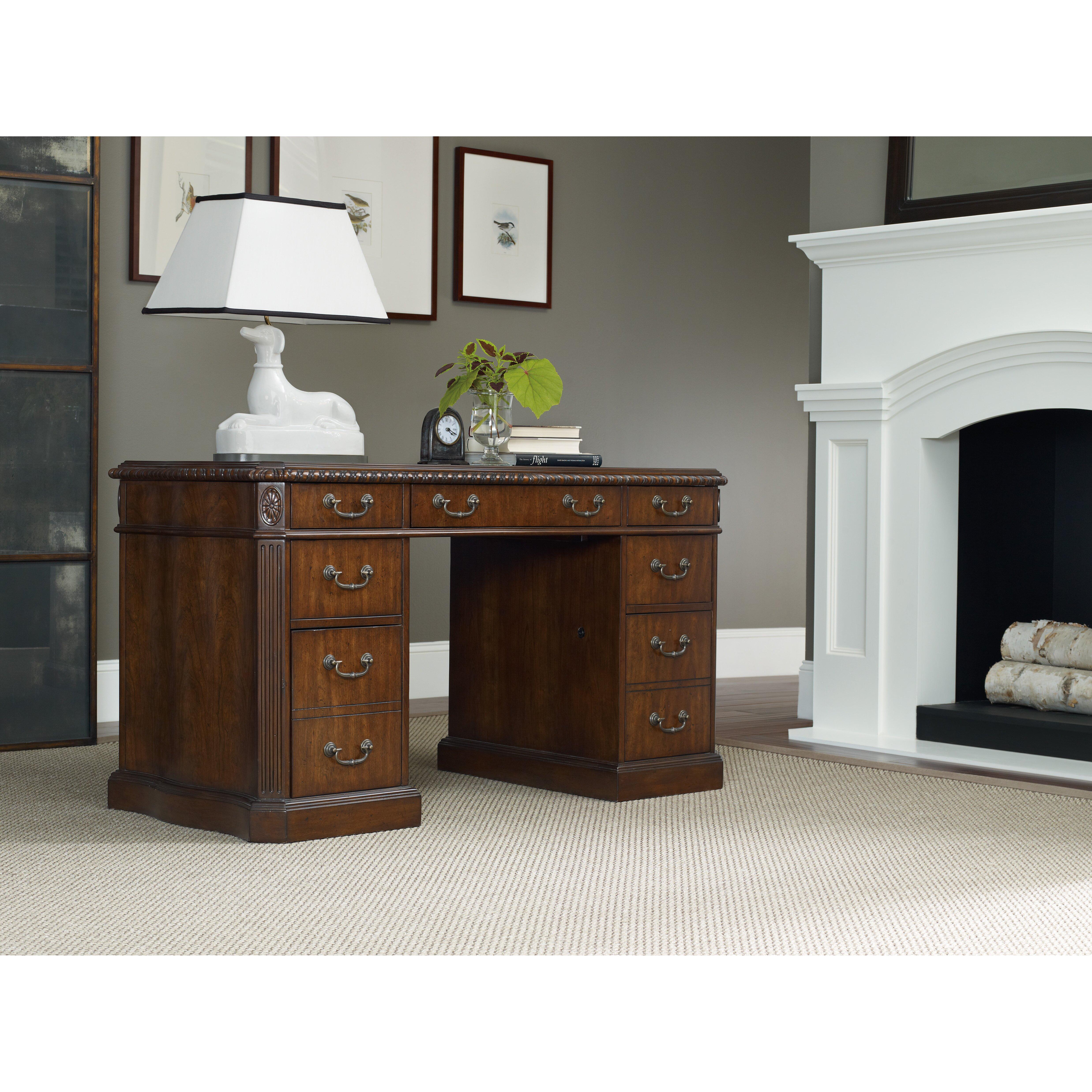 Hooker Furniture Executive Desk With Knee Hole Reviews Wayfair
