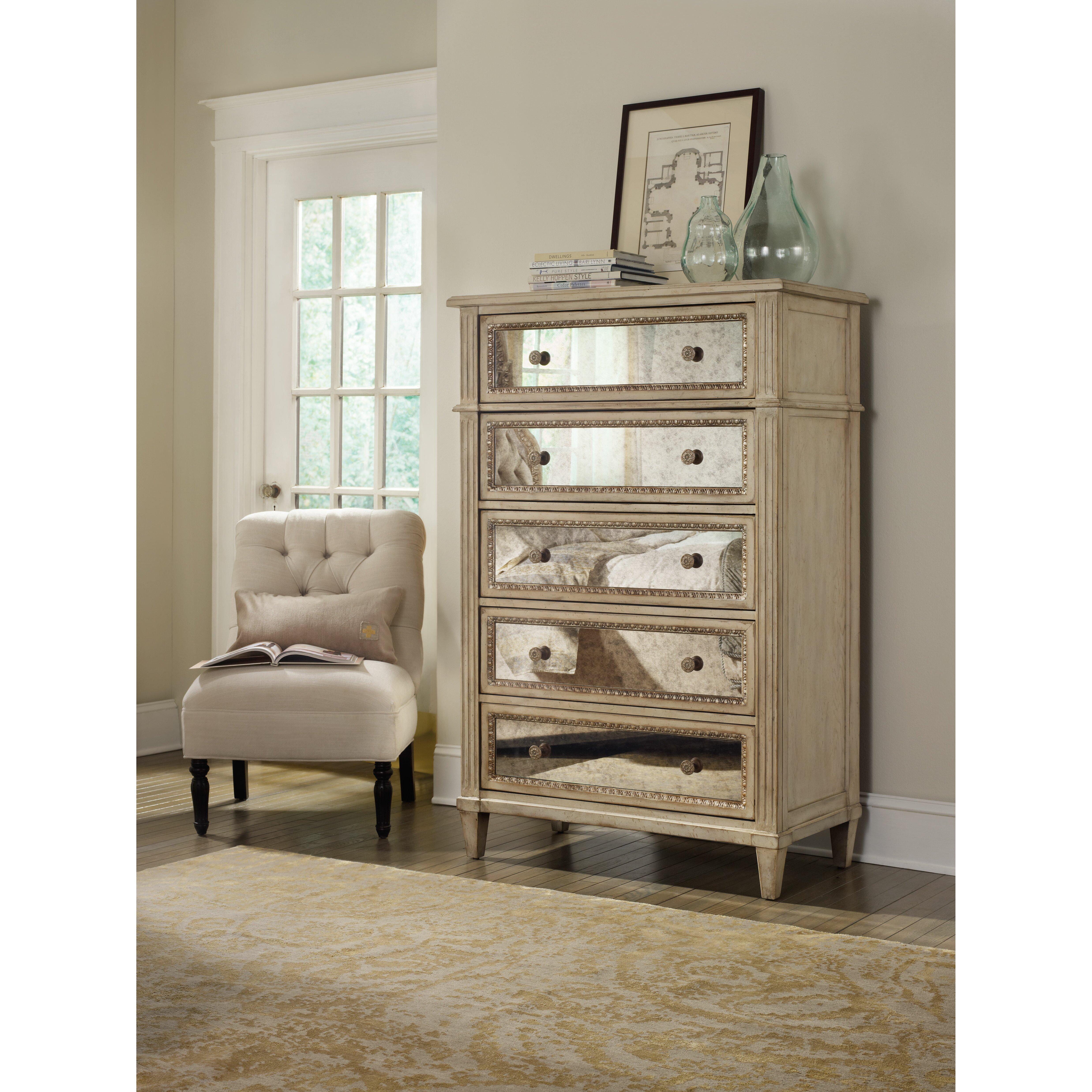 Hooker Furniture Sanctuary 5 Drawer Chest Reviews Wayfair