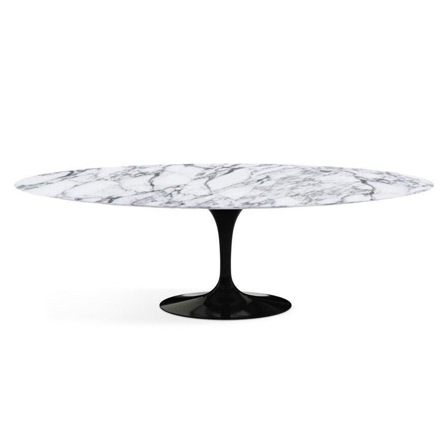 Knoll saarinen 96 oval dining table reviews wayfair - Saarinen oval dining table dimensions ...