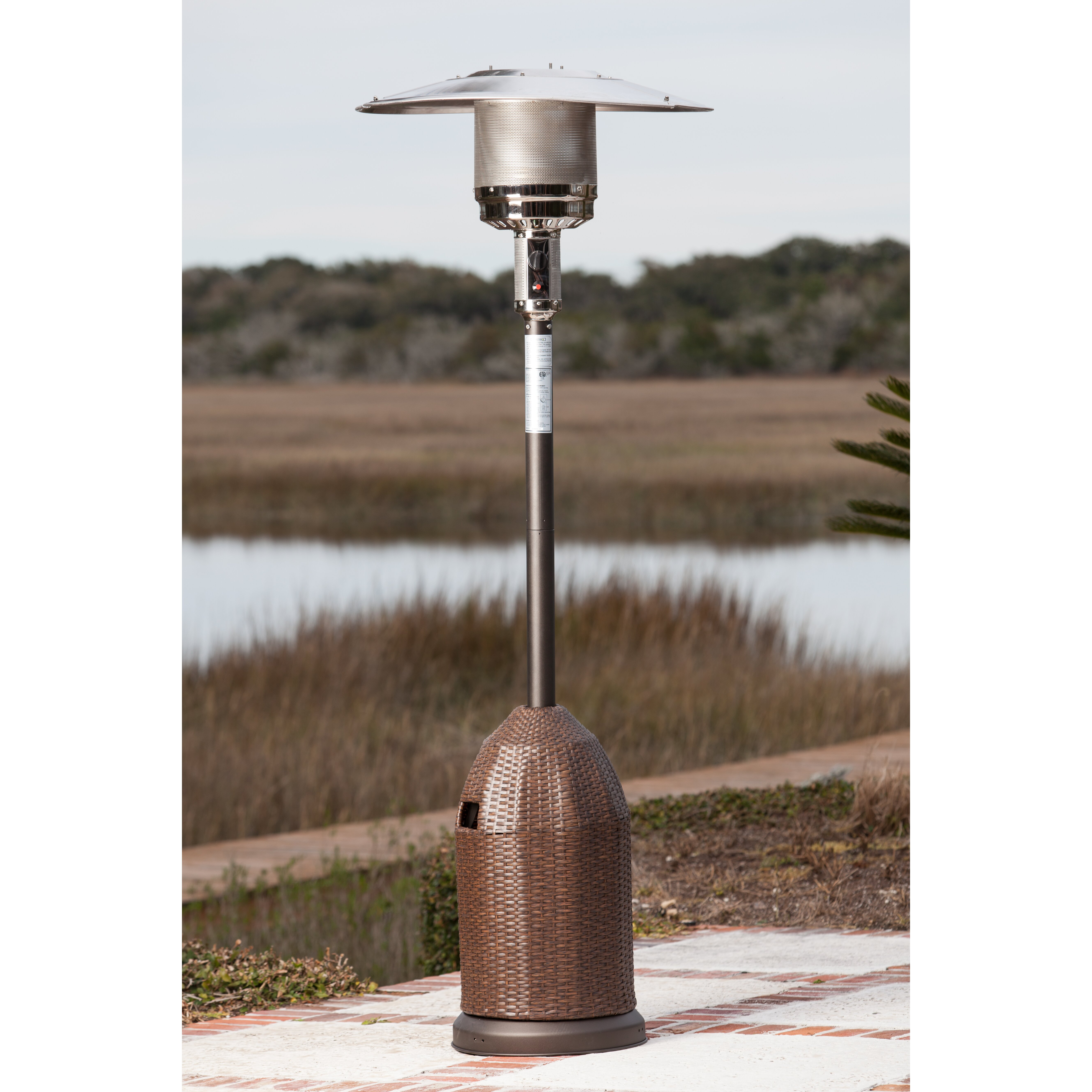 fire sense all weather propane patio heater reviews wayfair