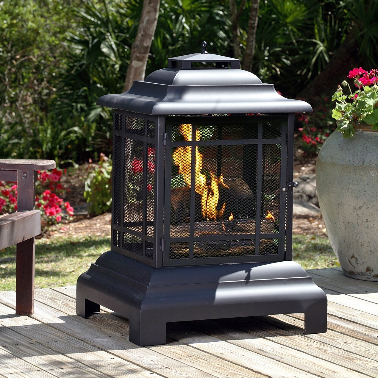 Char Broil Trentino Deluxe Outdoor Fireplace ~ sintax.us