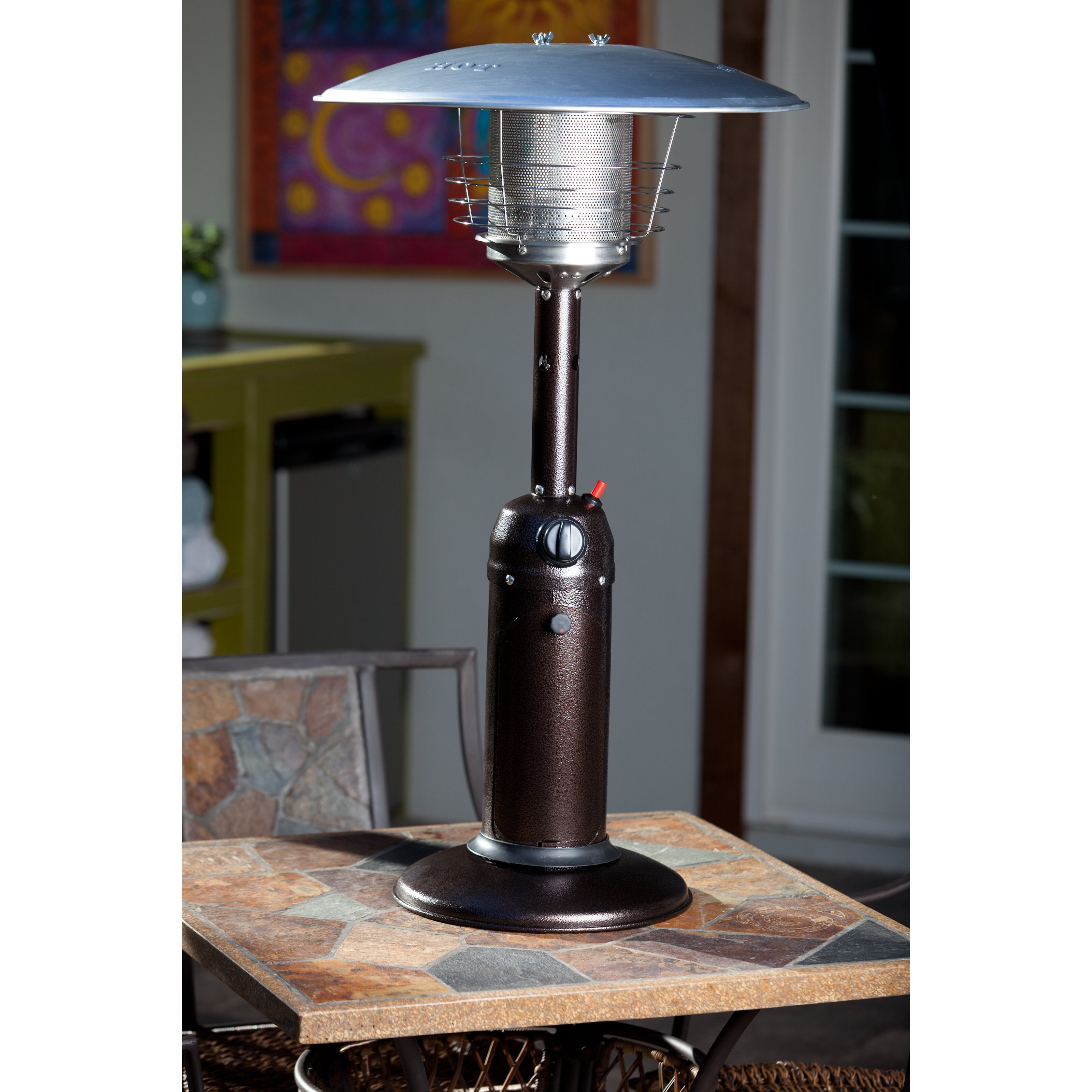 Fire Sense Tabletop Propane Patio Heater & Reviews
