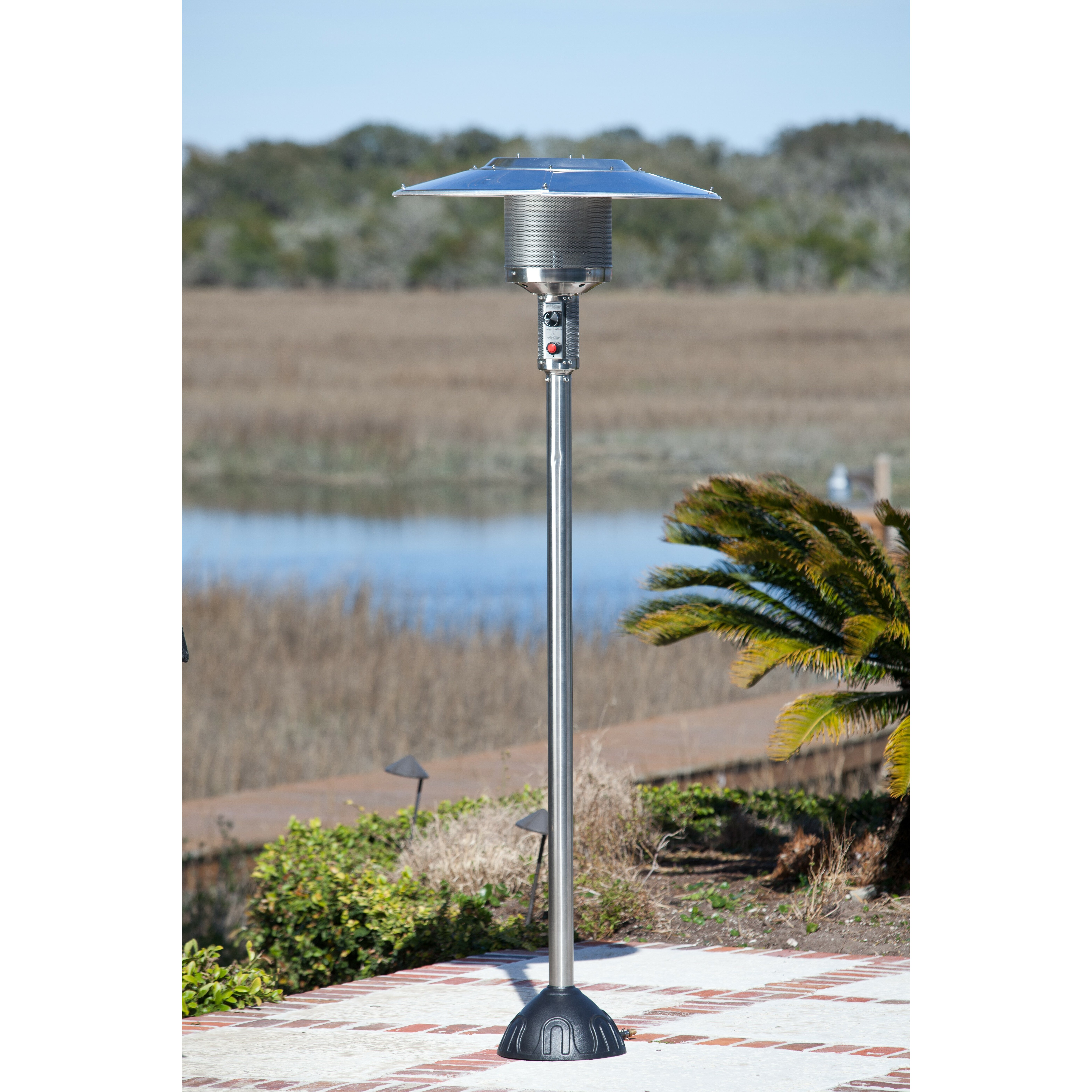 sense stainless steel natural gas patio heater reviews wayfair