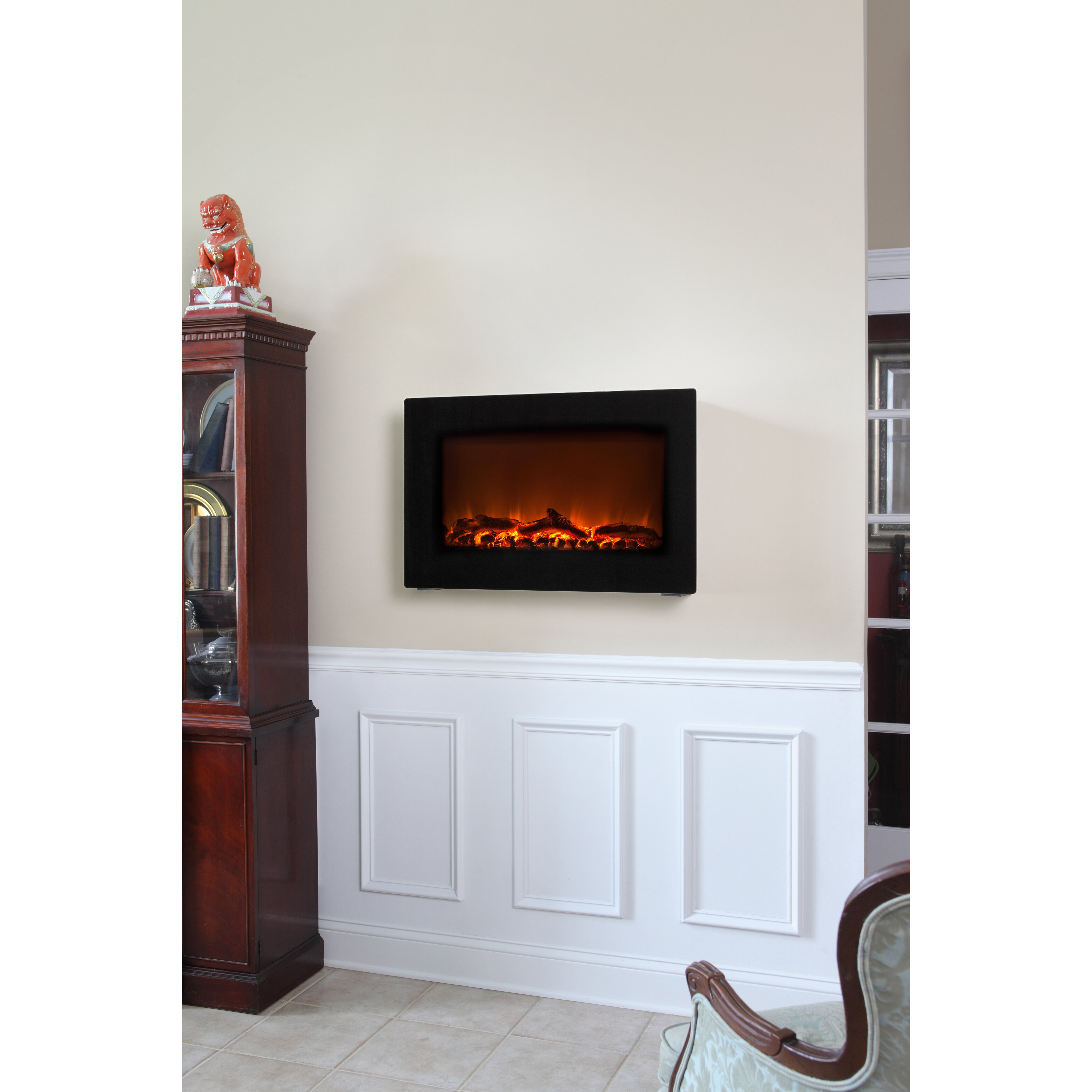 fire sense wall mount electric fireplace reviews wayfair