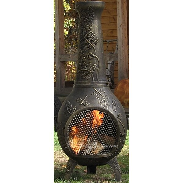 The Blue Rooster Aluminum Wood Chiminea & Reviews