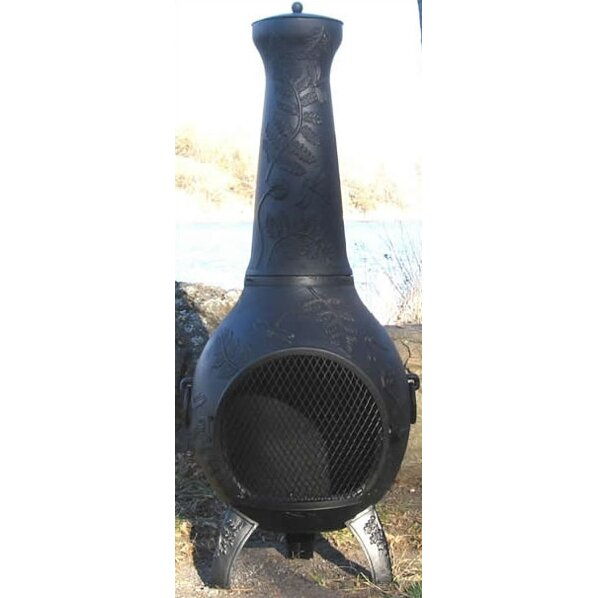 The Blue Rooster Aluminum Wood Chiminea Amp Reviews Wayfair