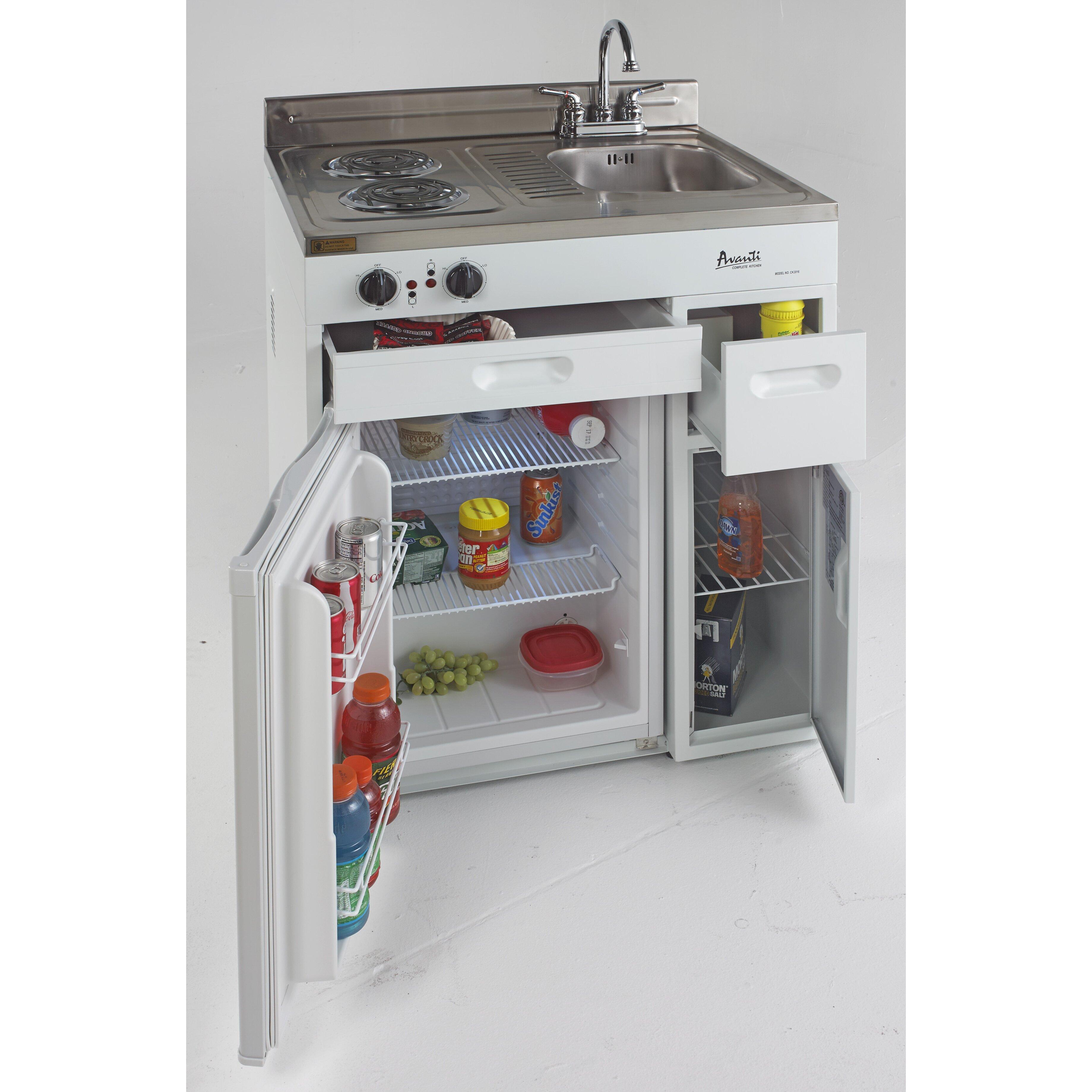 Avanti Mini Kitchen: Avanti 2.2 Cu. Ft. Compact Refrigerator With Complete
