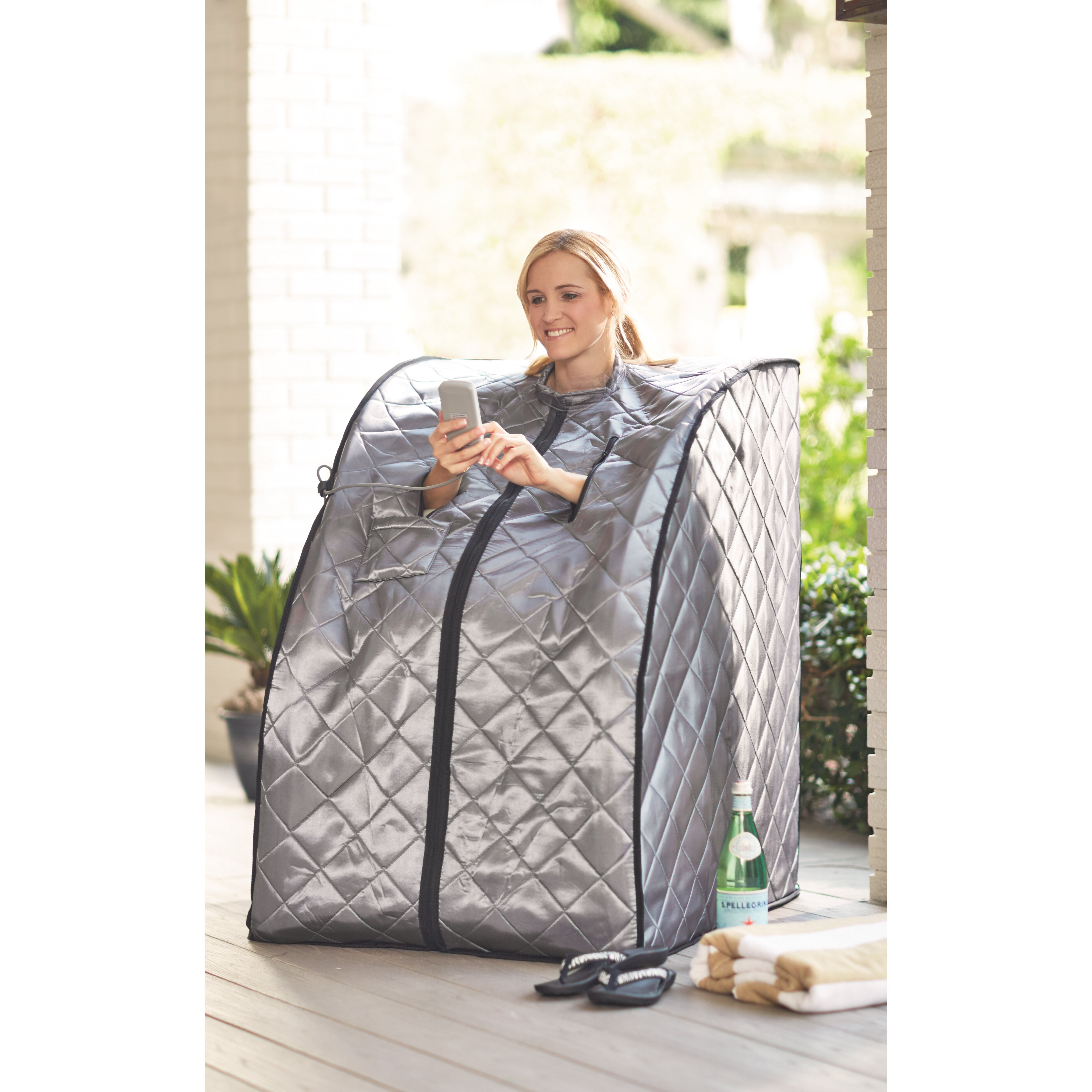 radiant saunas 1 person rejuvenator portable sauna reviews wayfair. Black Bedroom Furniture Sets. Home Design Ideas