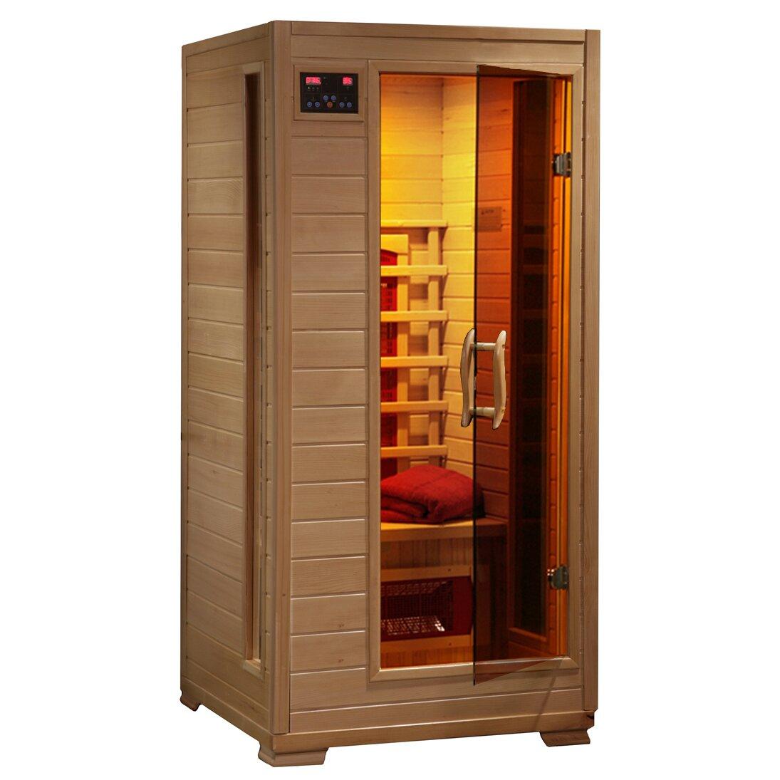 Ceramic FAR Infrared Sauna w/3 Ceramic Heaters & Reviews   Wayfair