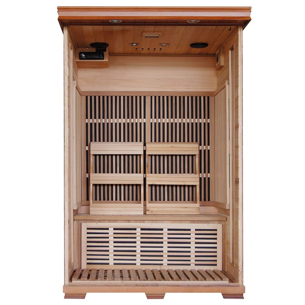 radiant saunas 2 person carbon far infrared sauna