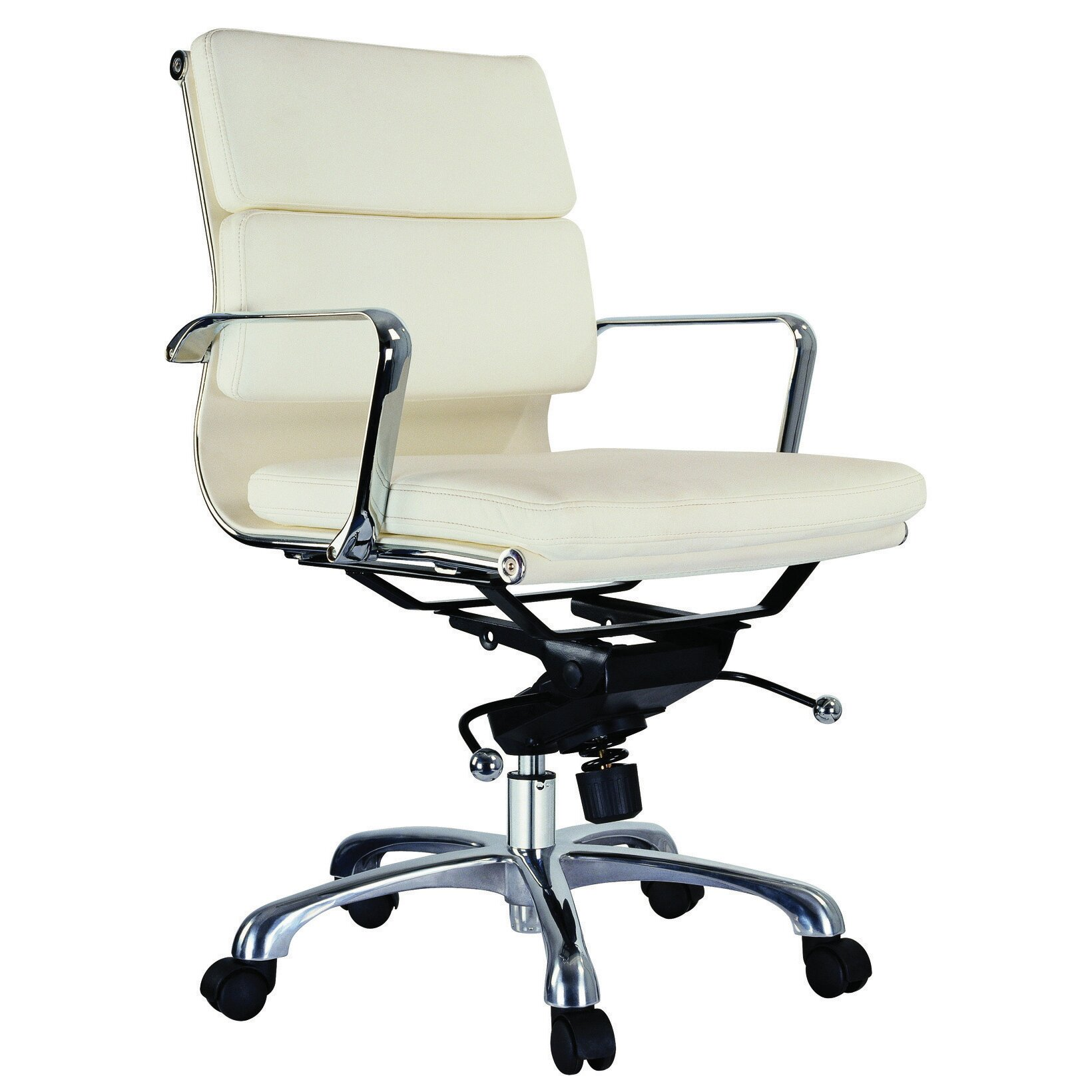 Creative Images International Murphy Low Back Leatherette Padded Office Chair