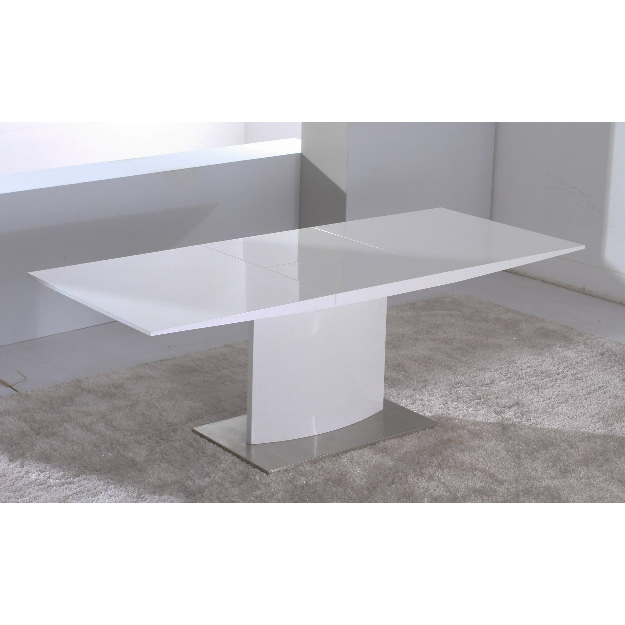 Creative images international extendable dining table for Creative dining tables
