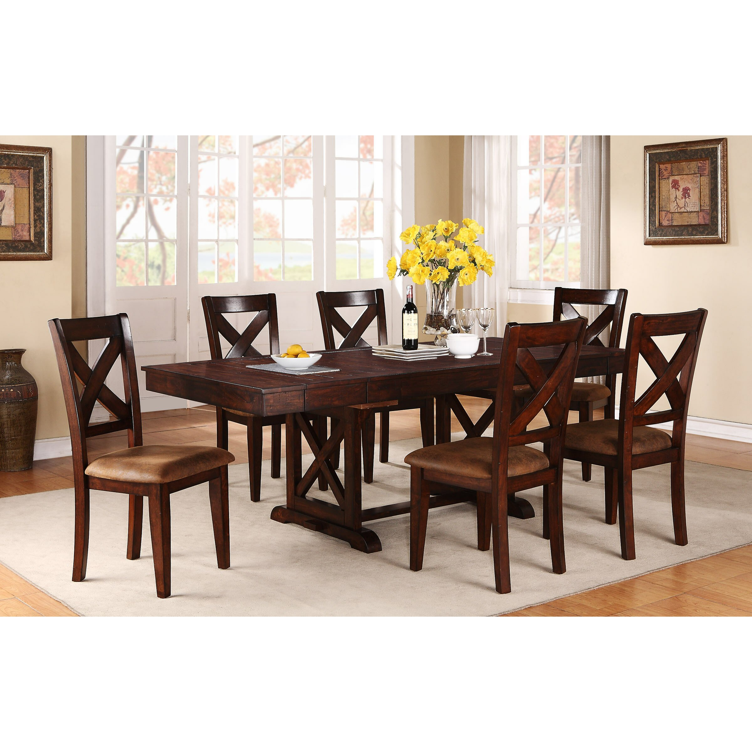 alcott hill mannox extendable dining table reviews wayfair