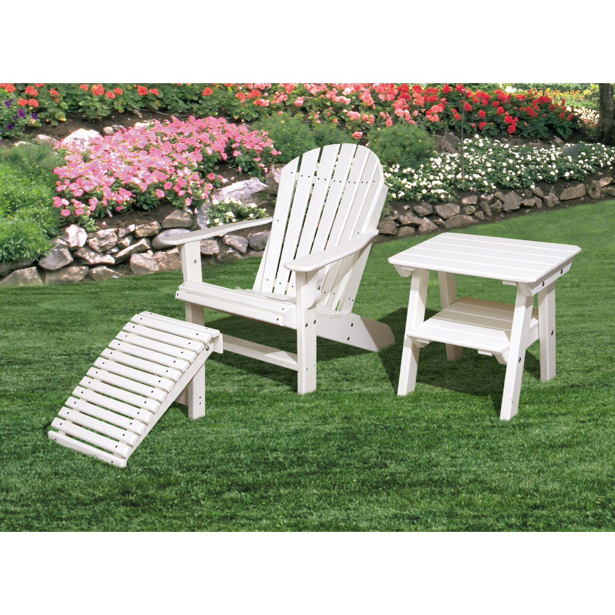 Little Cottage Company Adirondack Chair And Footstool Set Reviews Way