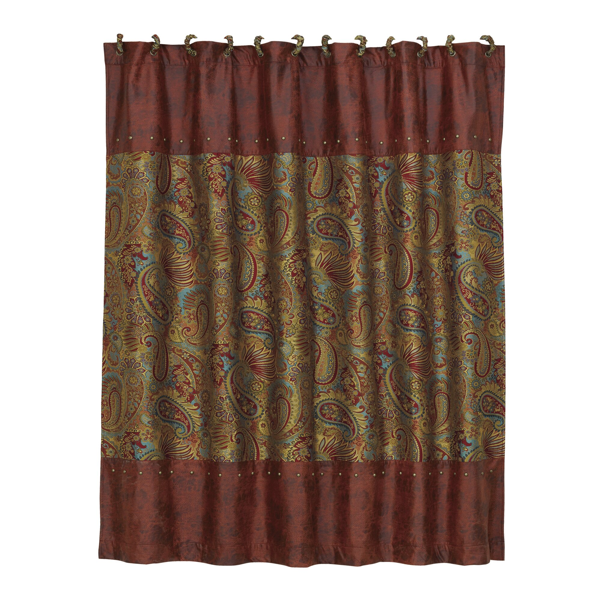 HiEnd Accents San Angelo Polyester Shower Curtain