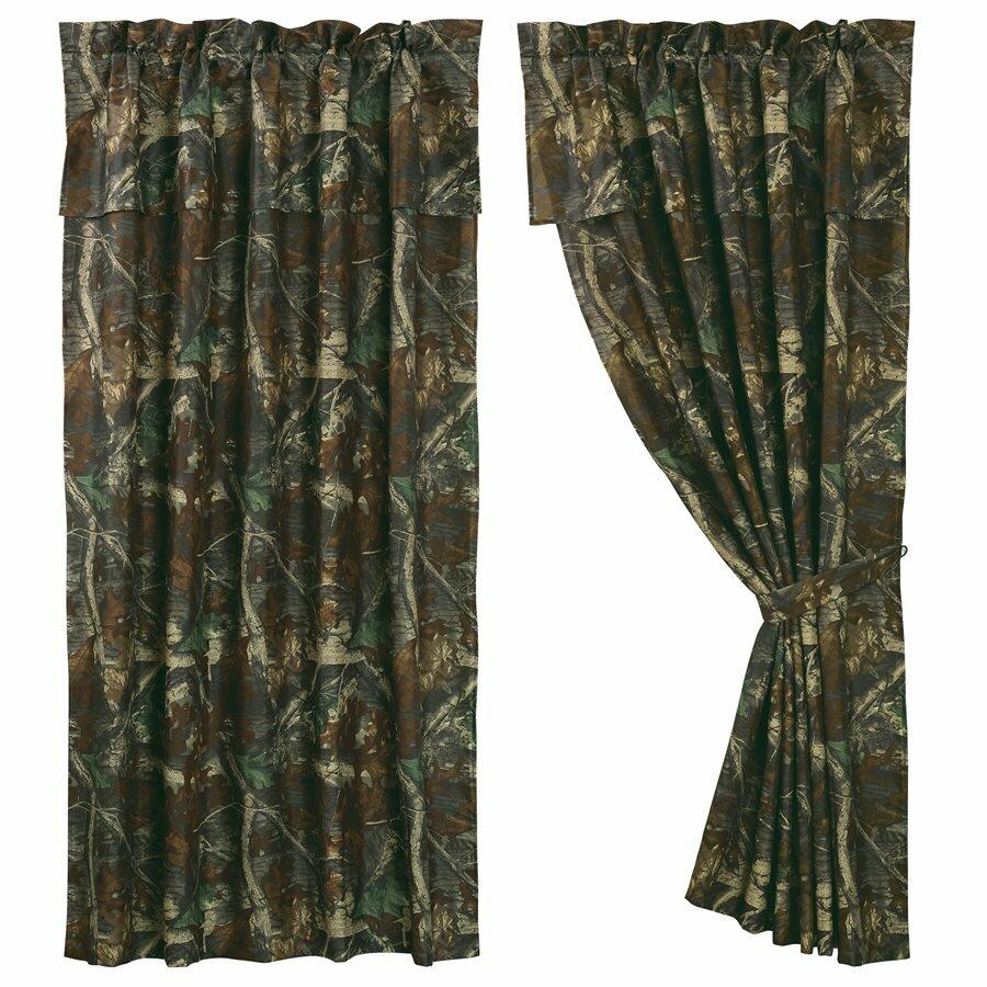 HiEnd Accents Oak Camo Curtain Panels & Reviews
