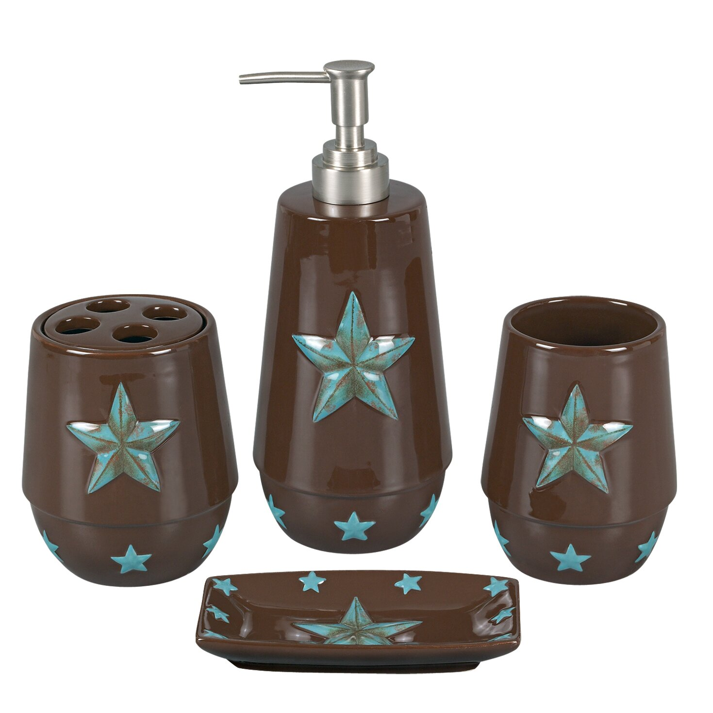 Hiend accents star 4 piece bathroom accessory set for 4 piece bathroom ideas